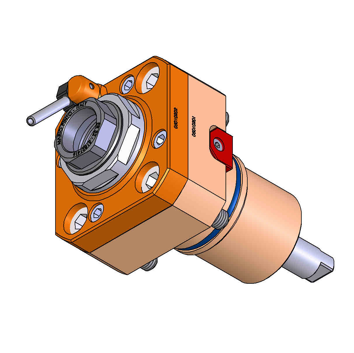 CYLINDRICAL SHANK 55 Driven Tool Holder.