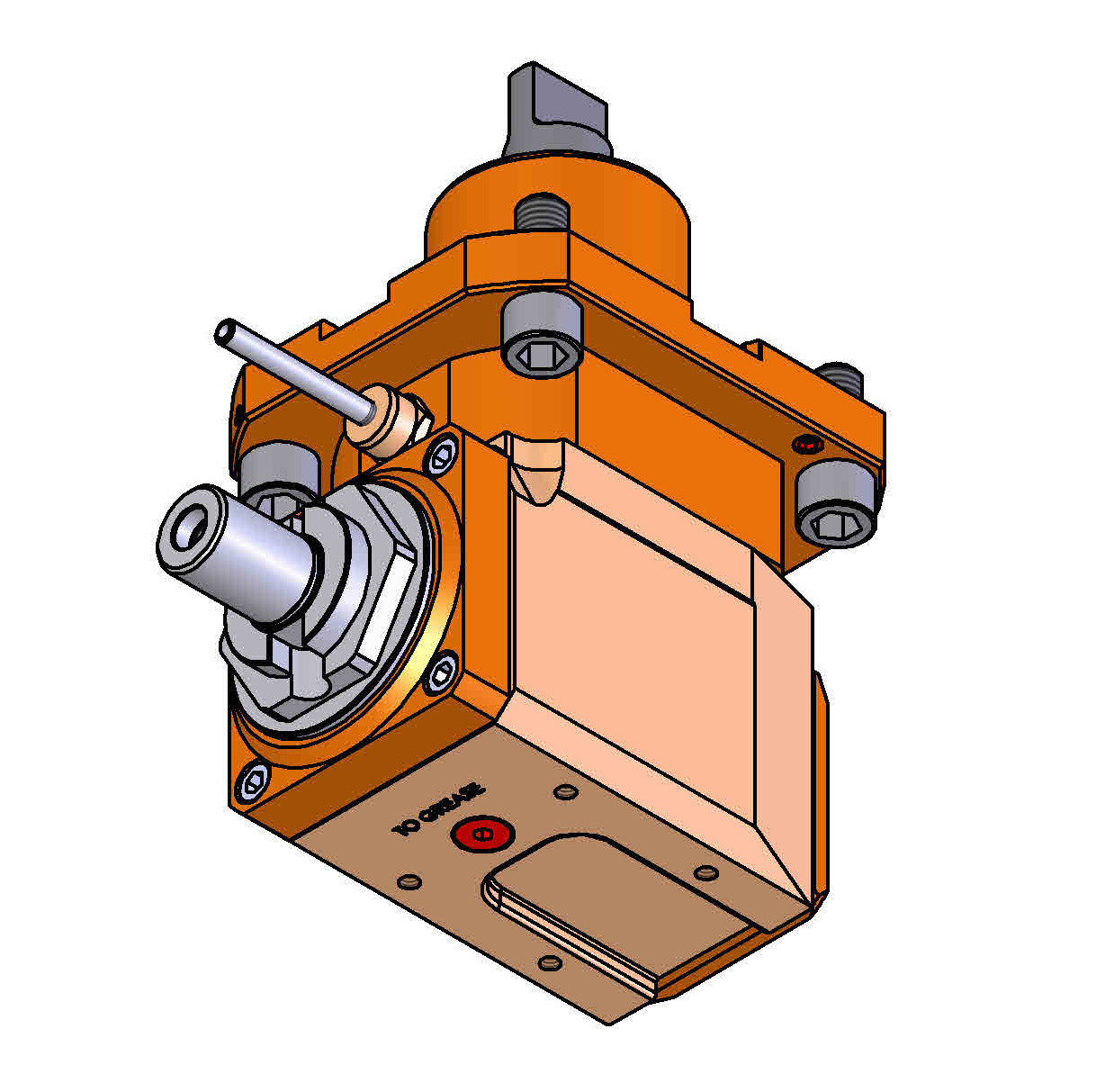 CYLINDRICAL SHANK 60 Driven Tool Holder.