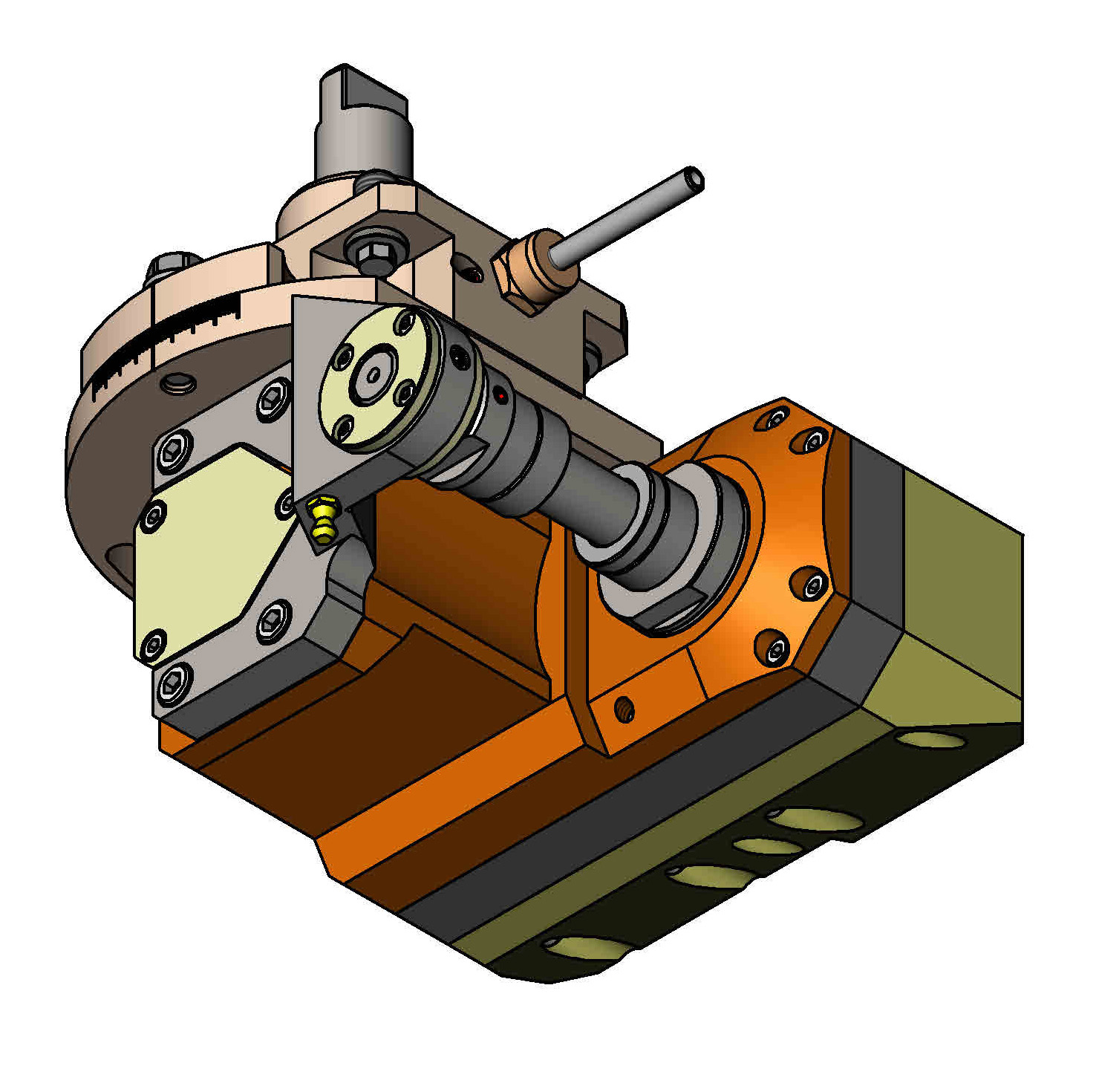 CYLINDRICAL SHANK 40 Driven Tool Holder.