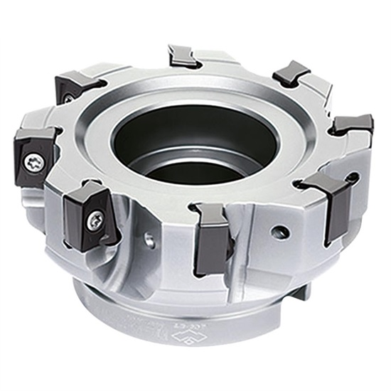 80mm EMP13 Series 90 Degree Indexable Face Mill for ANGX11 Inserts - ZCCCT.