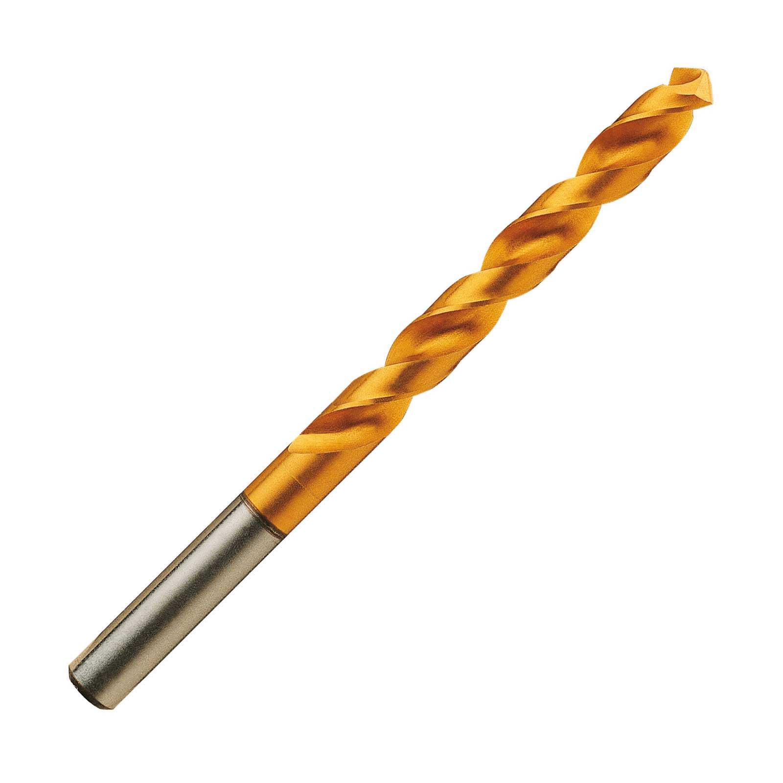 Osborn 810434 HPD-SUS HSS Vanadium TiN Coated (Stainless) 5xD Jobber Drill.