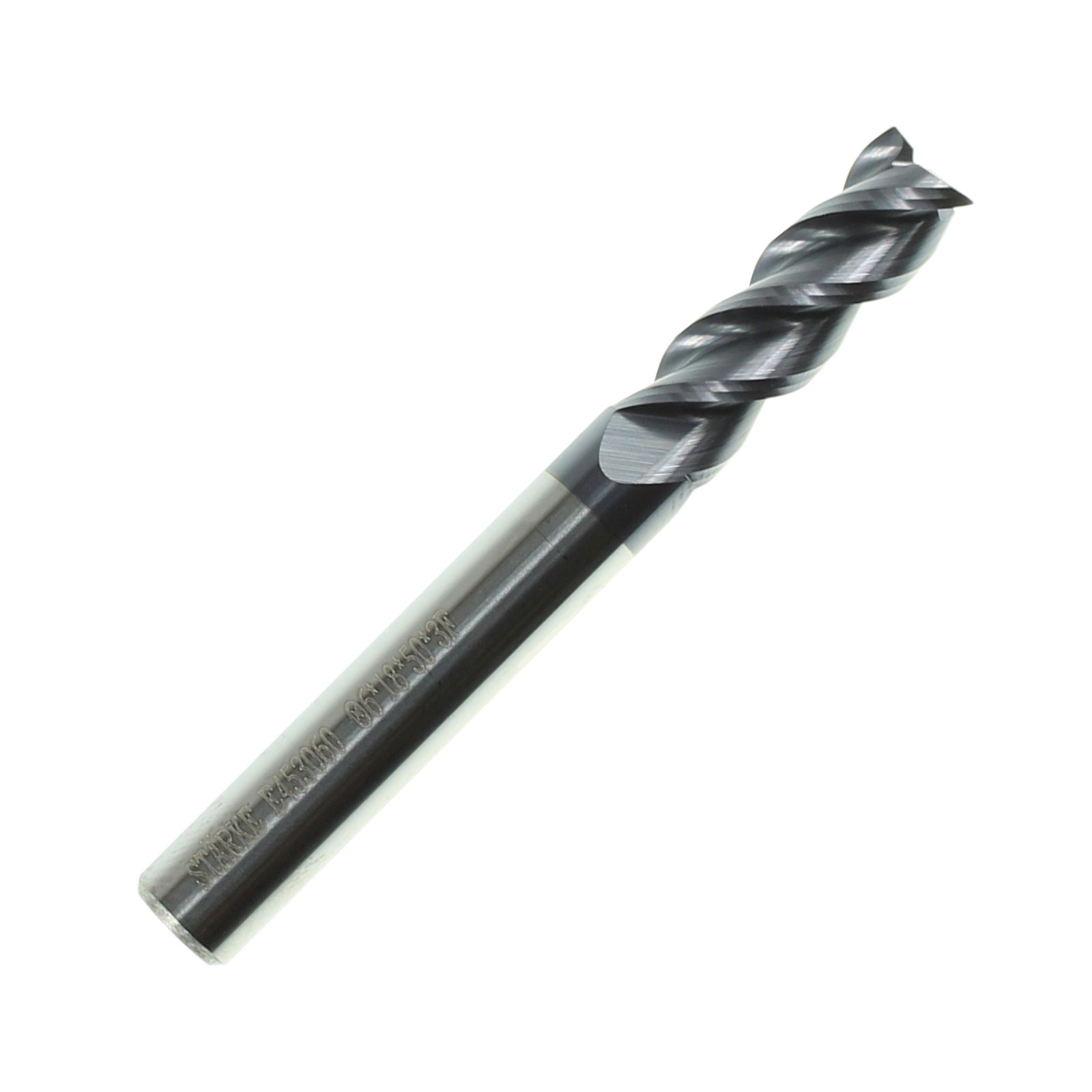 STARKE Eco-Mill Coated Carbide 3 Flute End Mill.