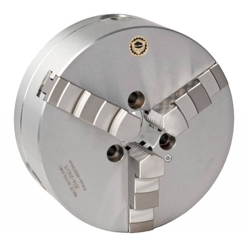 Bison 3514 3-Jaw Steel Self-Centring Scroll Chuck with Type A Mounting - DIN 55026.