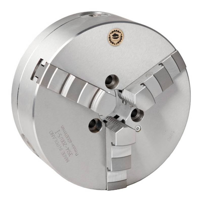 Bison 3514-P Premium 3-Jaw Steel Self-Centring Scroll Chuck with Type A Mounting - DIN 55026.