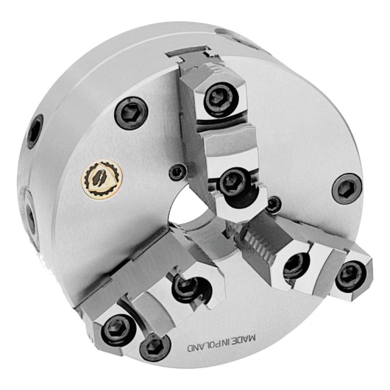 Bison 3575 3-Jaw Steel Self-Centring Flexible (Front/Rear) Mounting Scroll Chuck.