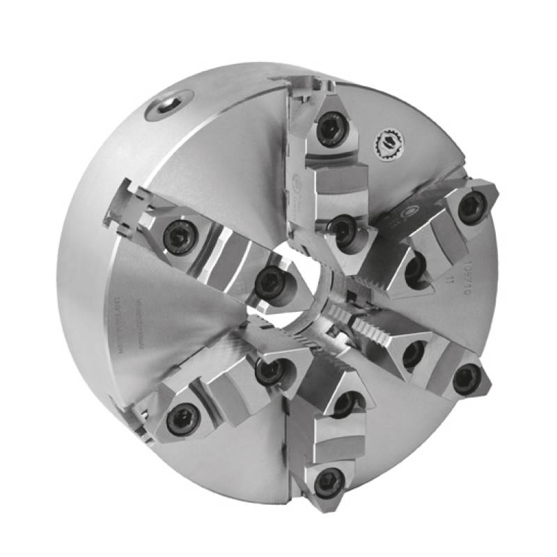 Bison 3805 6-Jaw Cast Iron Self-Centring Scroll Chuck with Plain Back Mounting - DIN 6350.