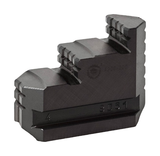 Bison SJT4300 Hard Solid Jaws (Reversible Clamping) for 4300 Series 4-Jaw Independent Chucks.