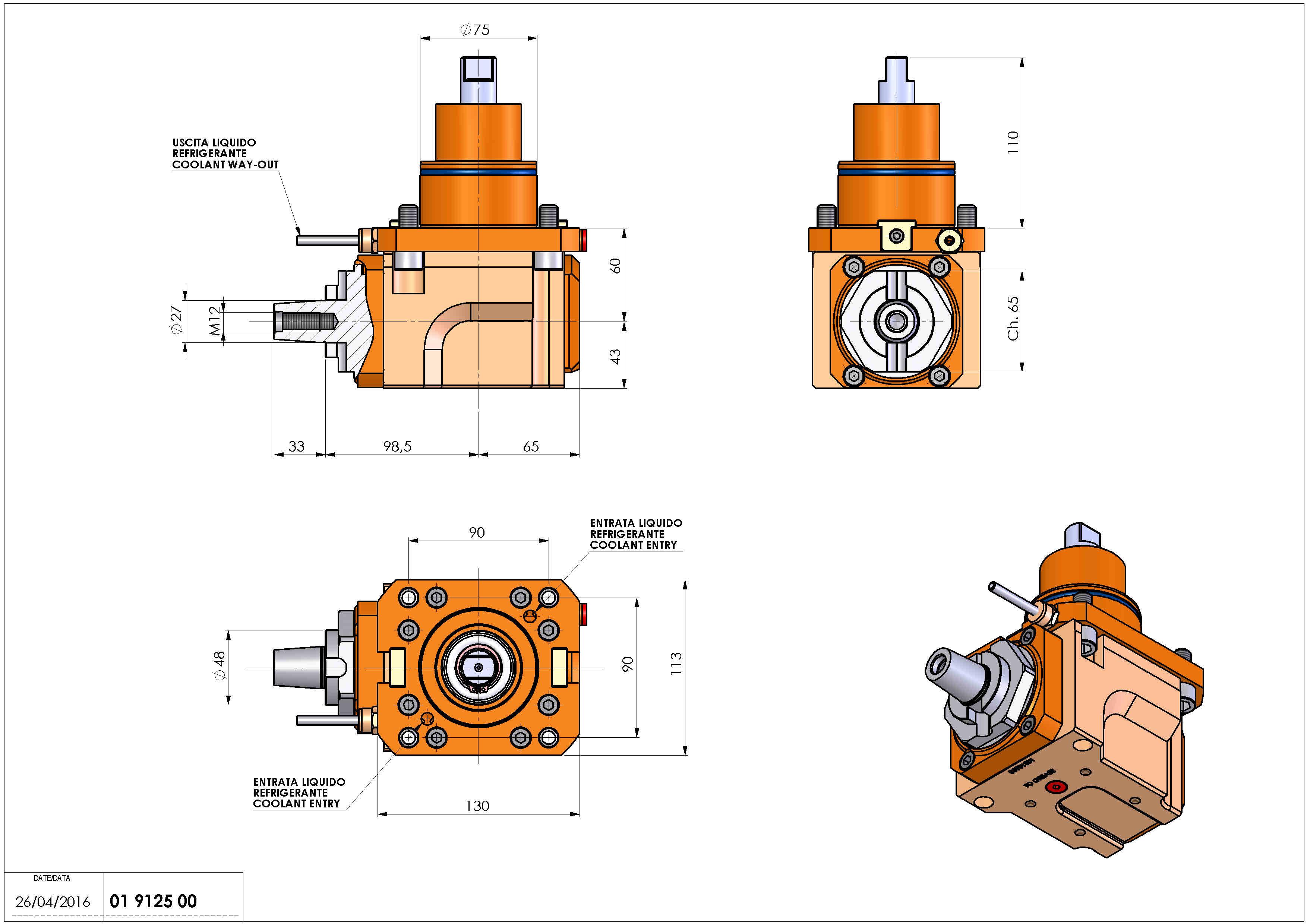 Technical image - LT-A BMT75 D27 CONICO 4 H60.