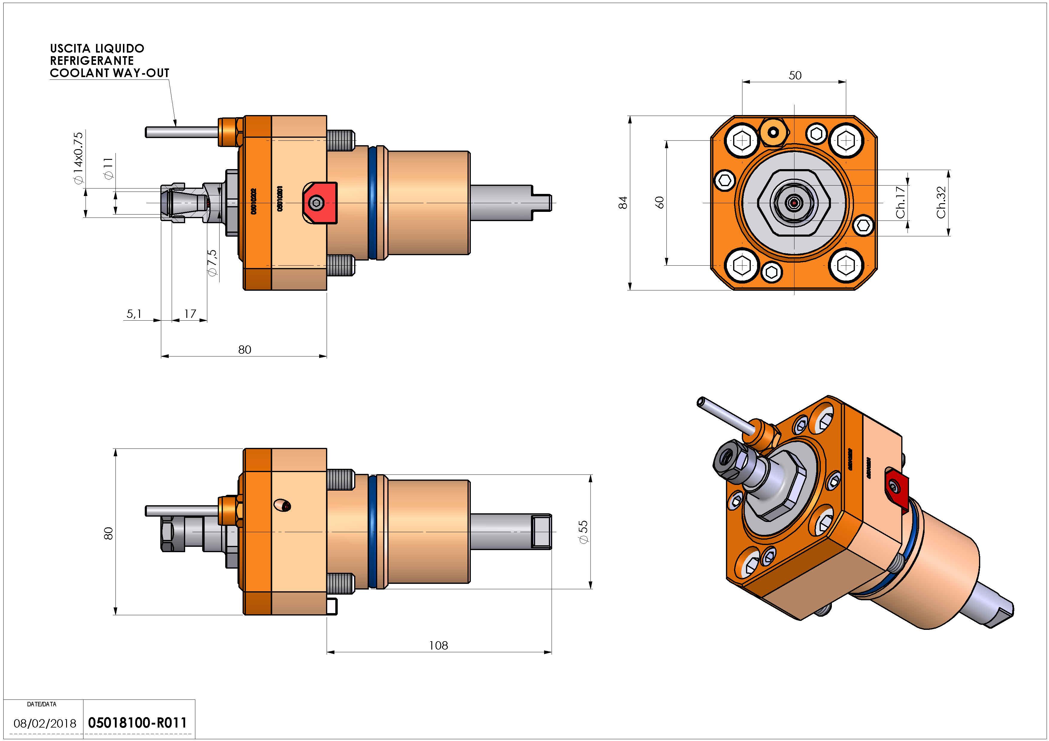 Technical image - LT-S D55 ER11 H80.