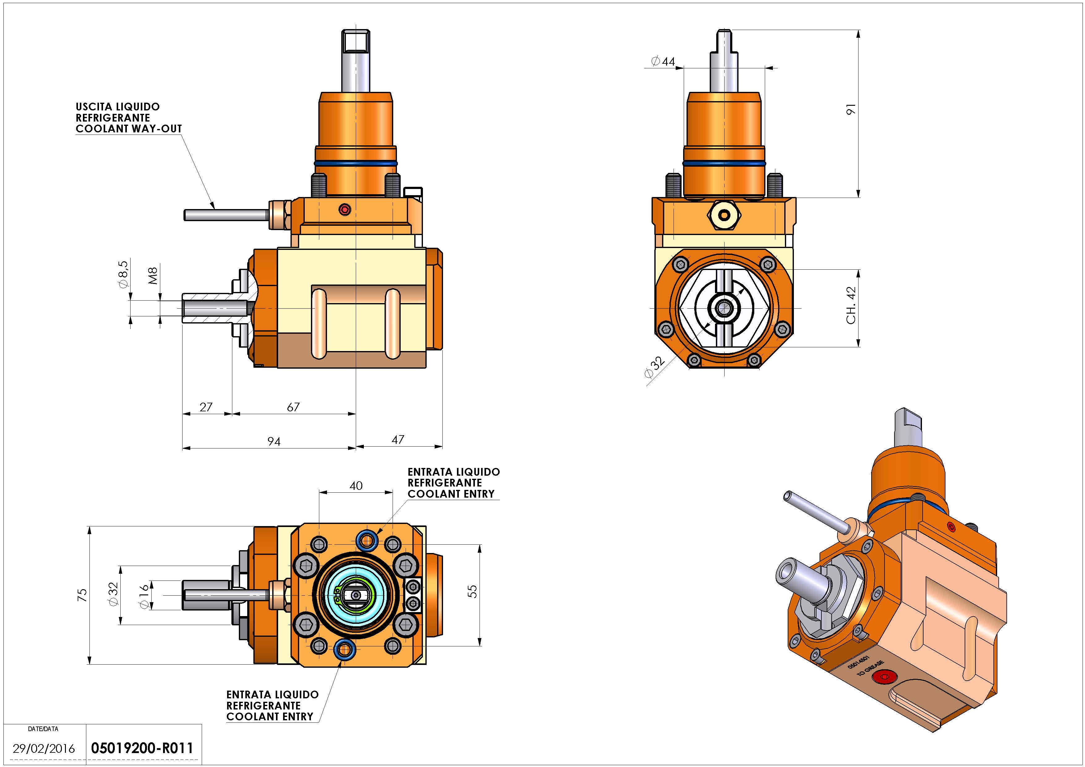 Technical image - LT-A D44 DIN138-16 L-R H60 NK.