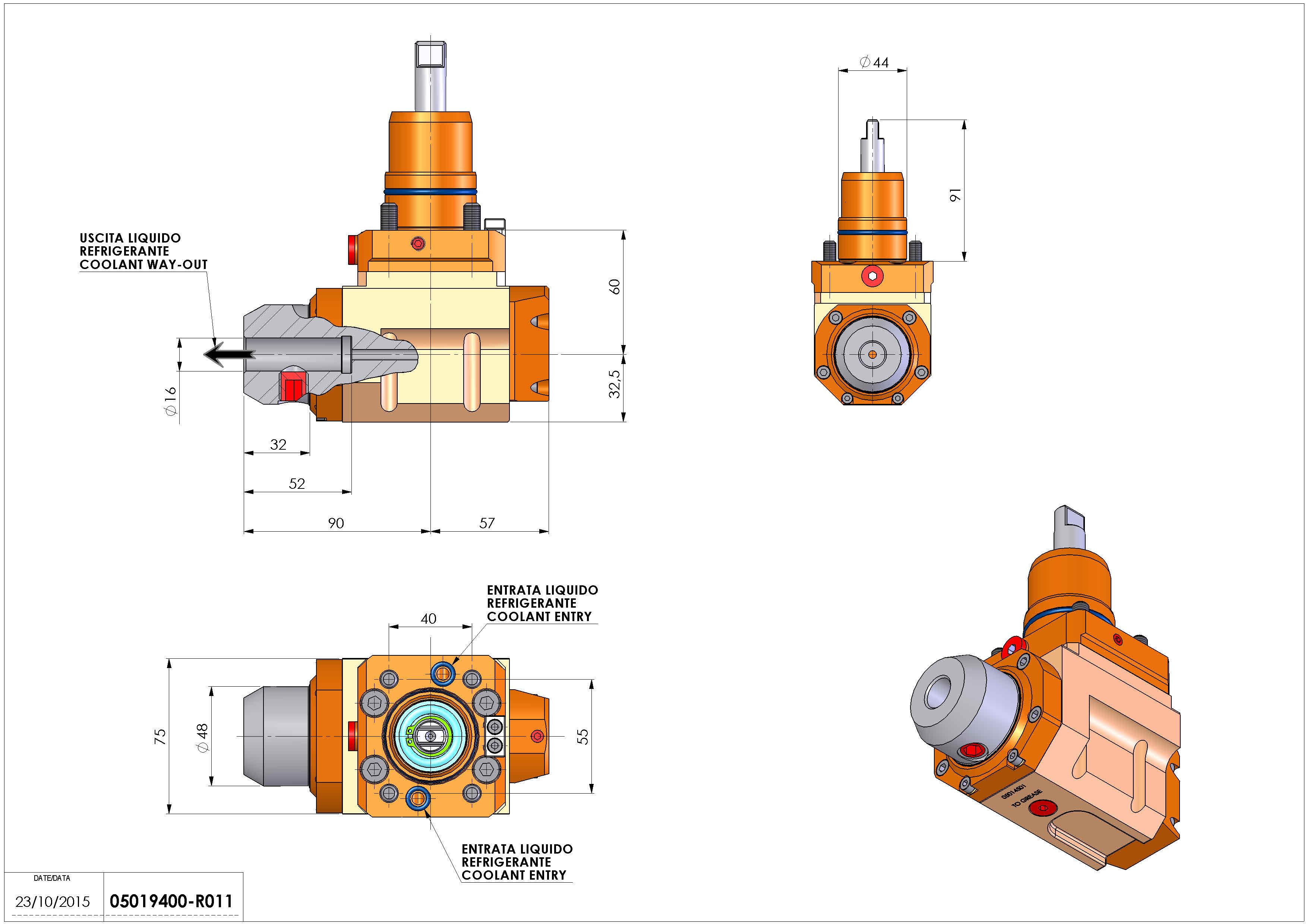 Technical image - LT-A D44 WELDON-16 RF H60 NK.