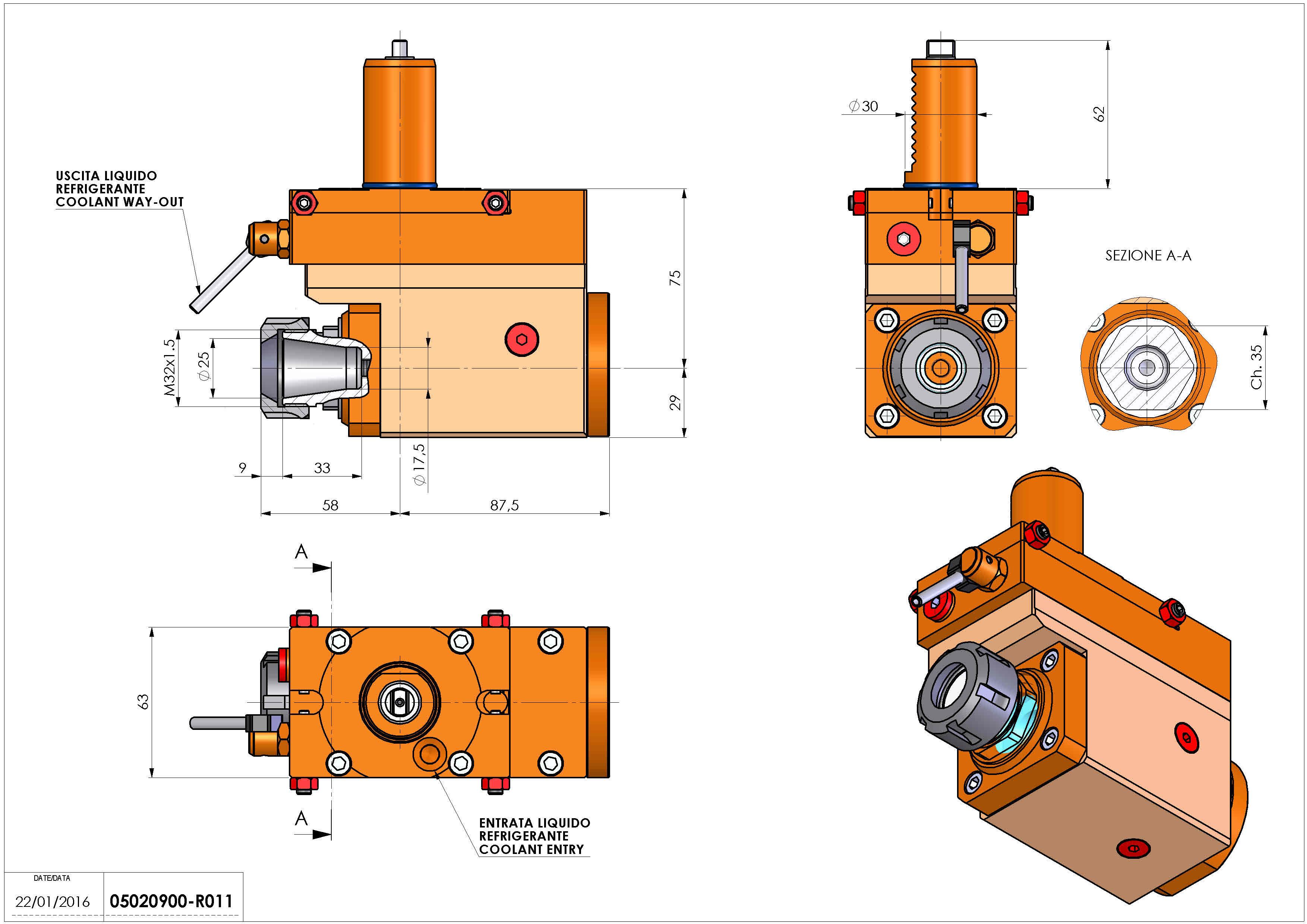 Technical image - LT-A VDI30 ER25 L H75 TZ.