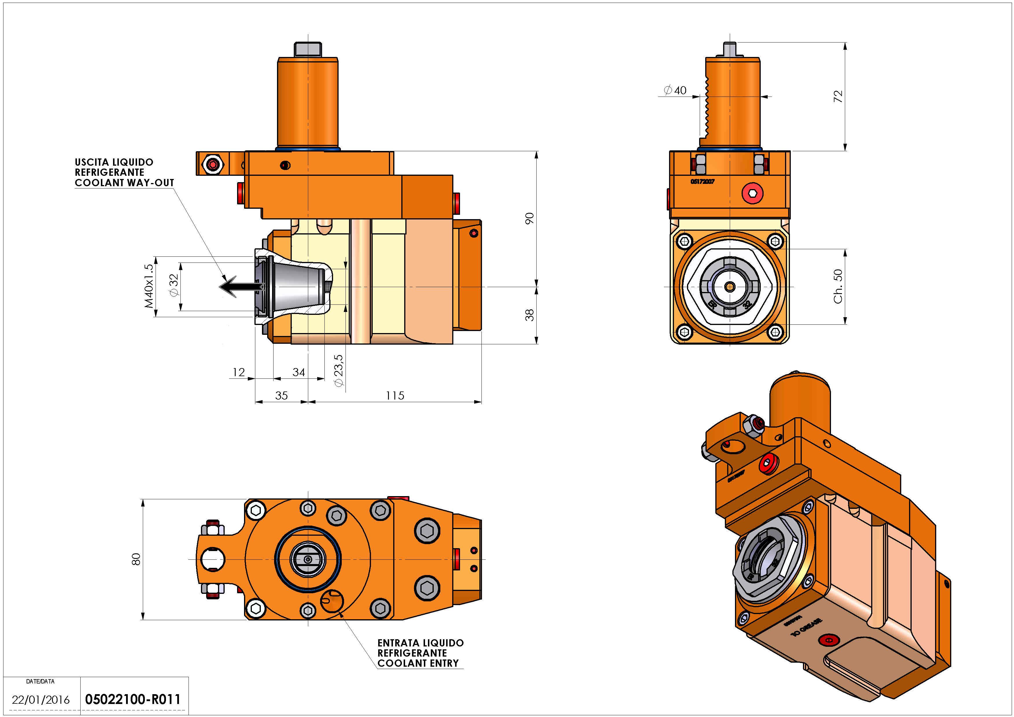 Technical image - LT-A VDI40 ER32F OFS RF H90 TZ.