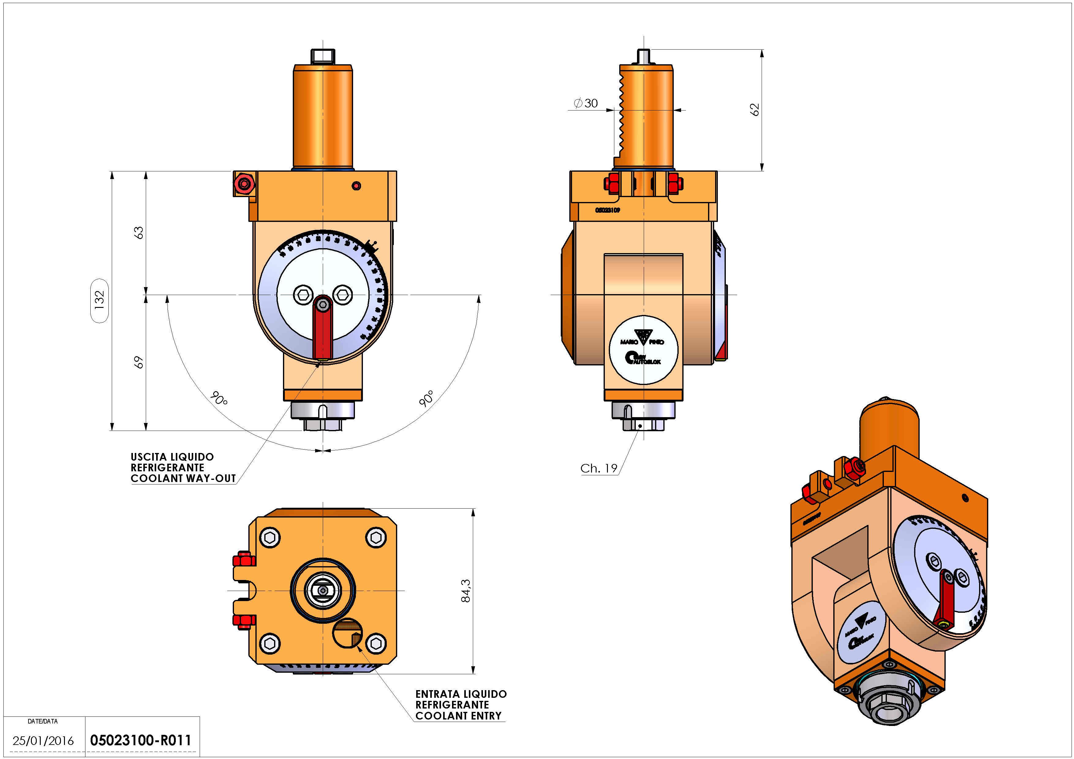 Technical image - LT-T VDI30 ER16F H63-132 TZ.