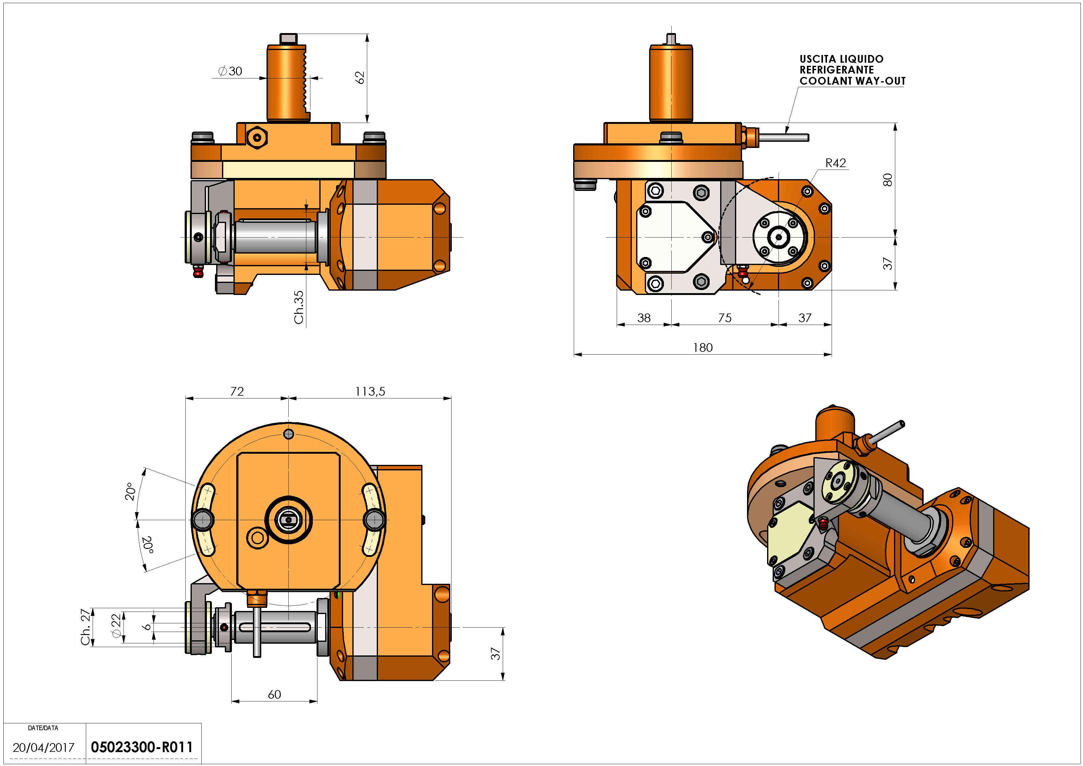 Technical image - LT-HOB-SAW VDI30 2.5:1 H80.