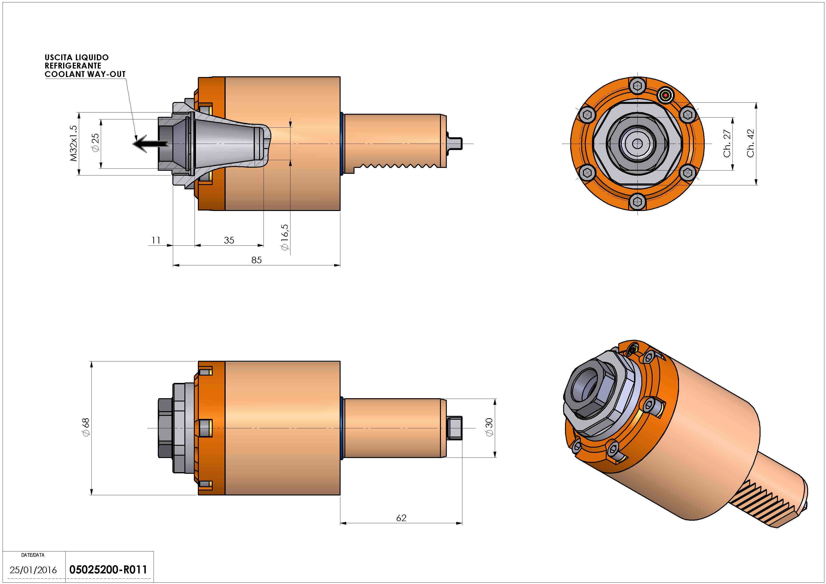 Technical image - LT-S VDI30 ER25F H85 RF TZ.