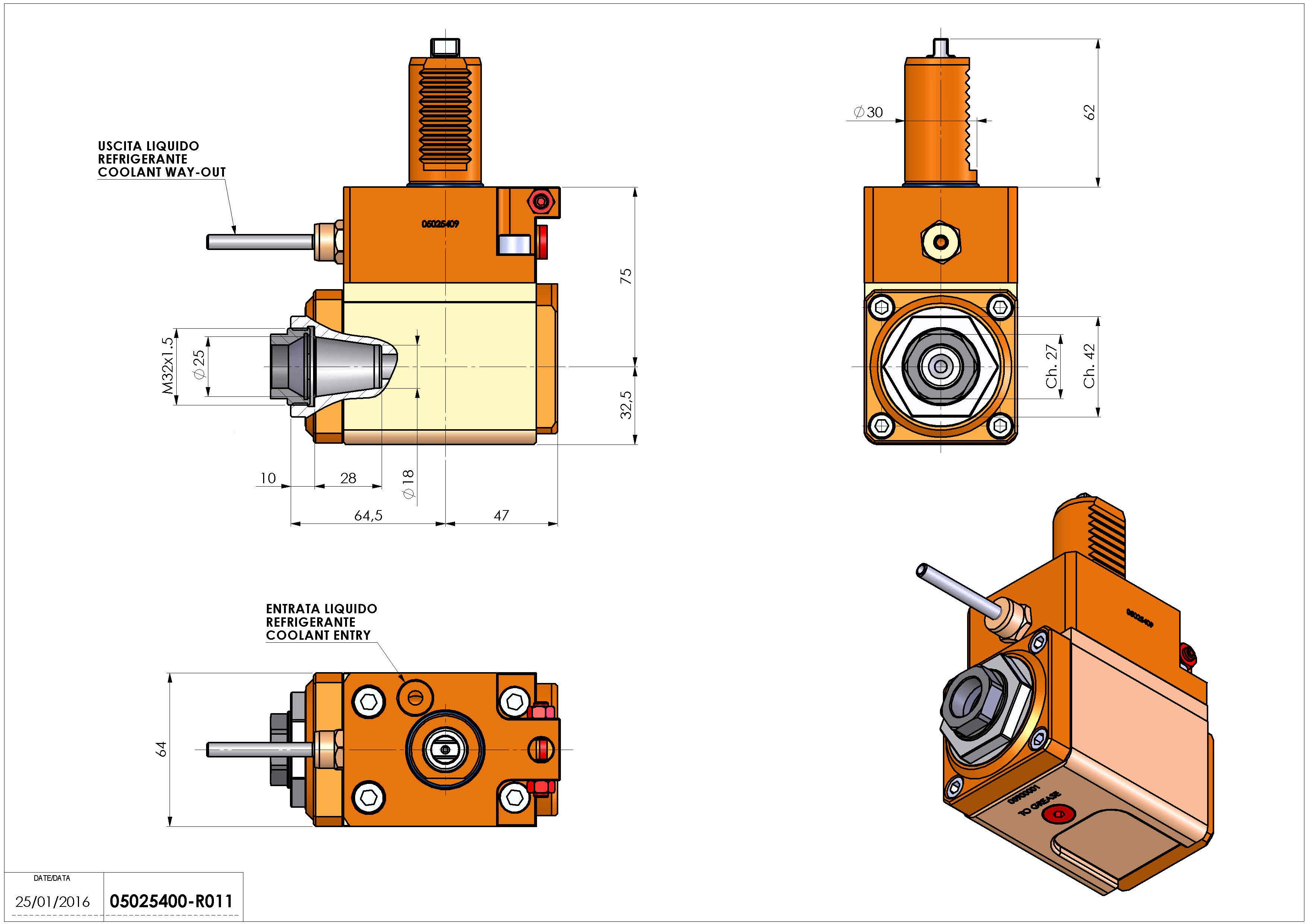 Technical image - LT-A VDI30 ER25F R H75 TZ.