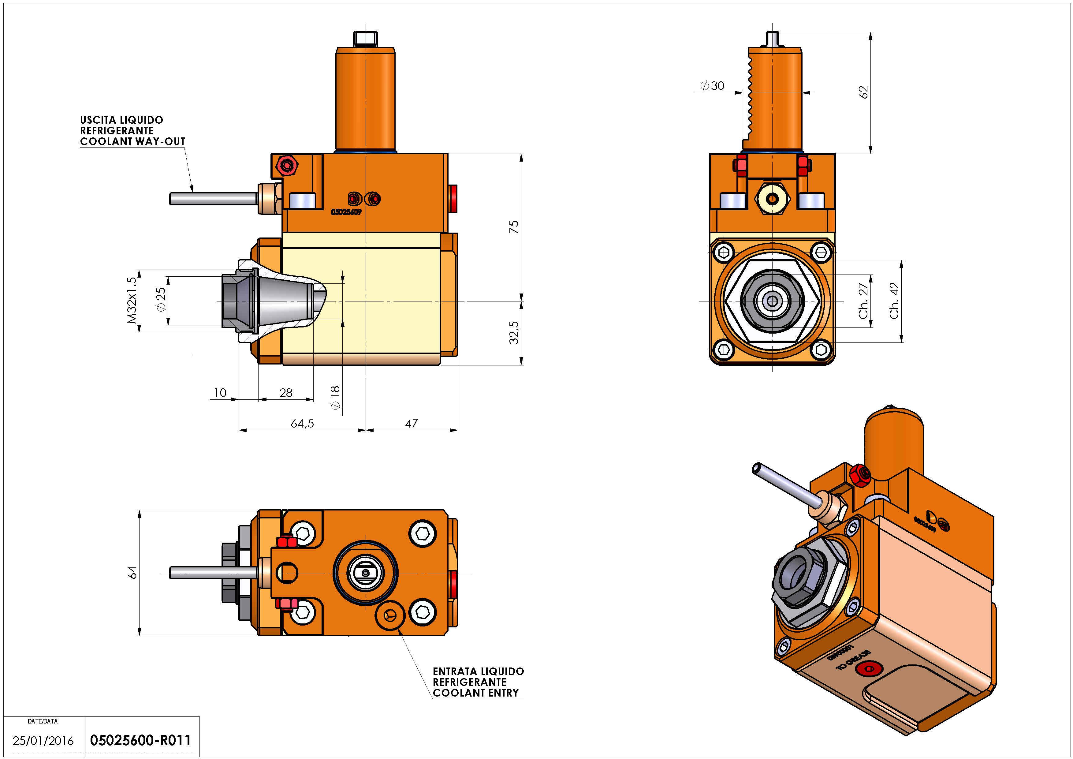 Technical image - LT-A VDI30 ER25F L H75 TZ.