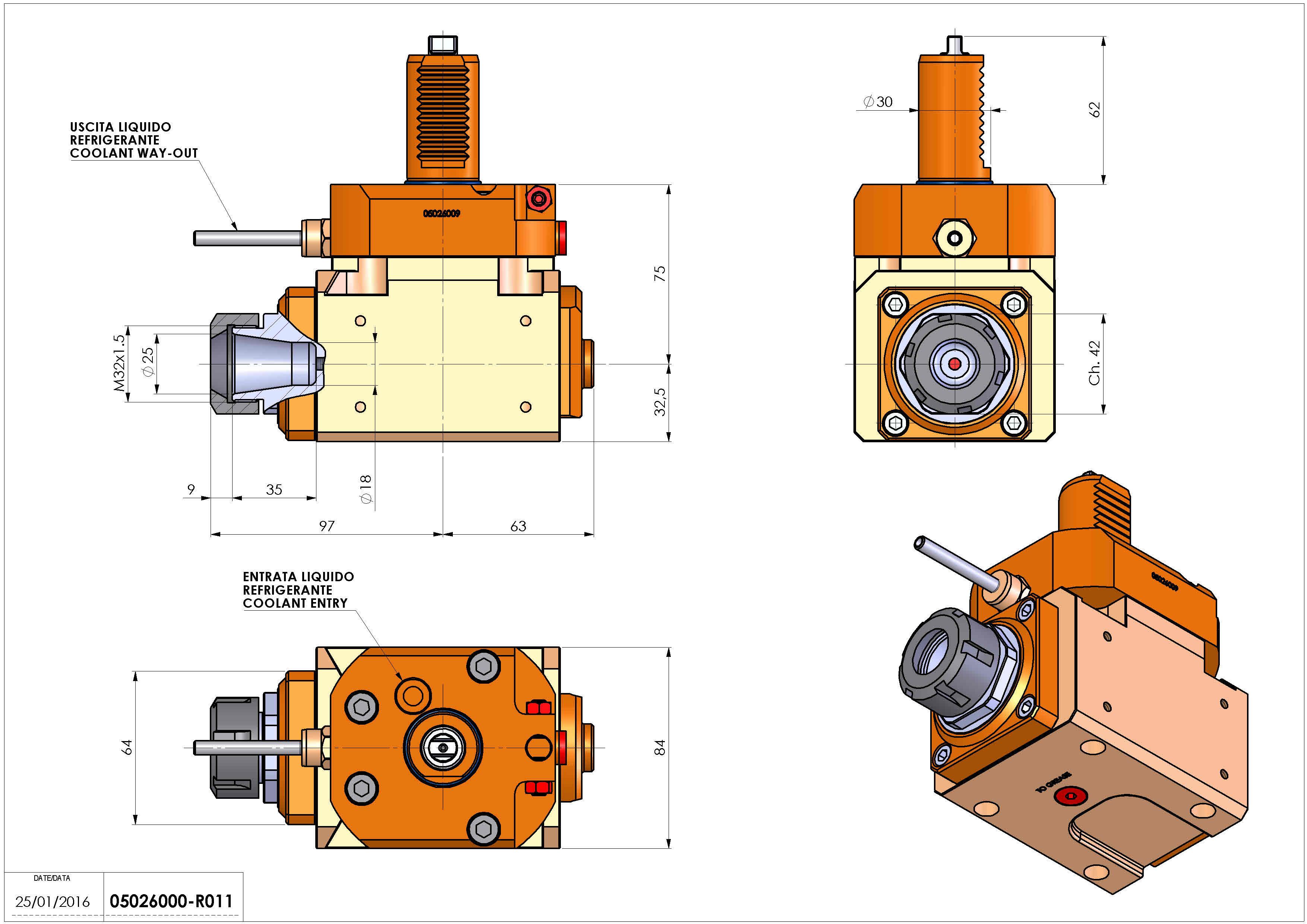 Technical image - LT-A VDI30 ER25 R 1:2 H75 TZ.