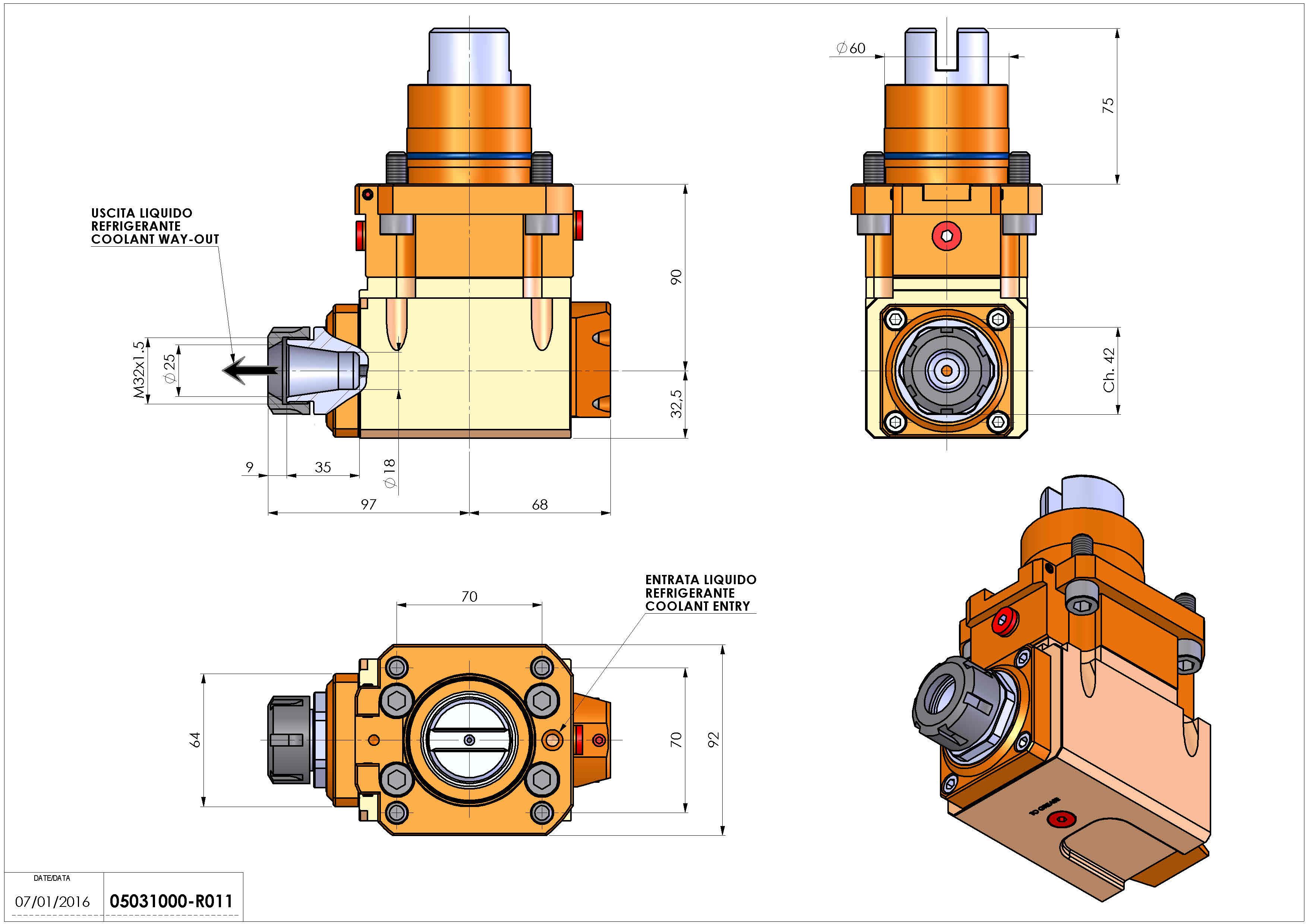 Technical image - LT-A D60 ER25 L 1:2 RF H90 TW.