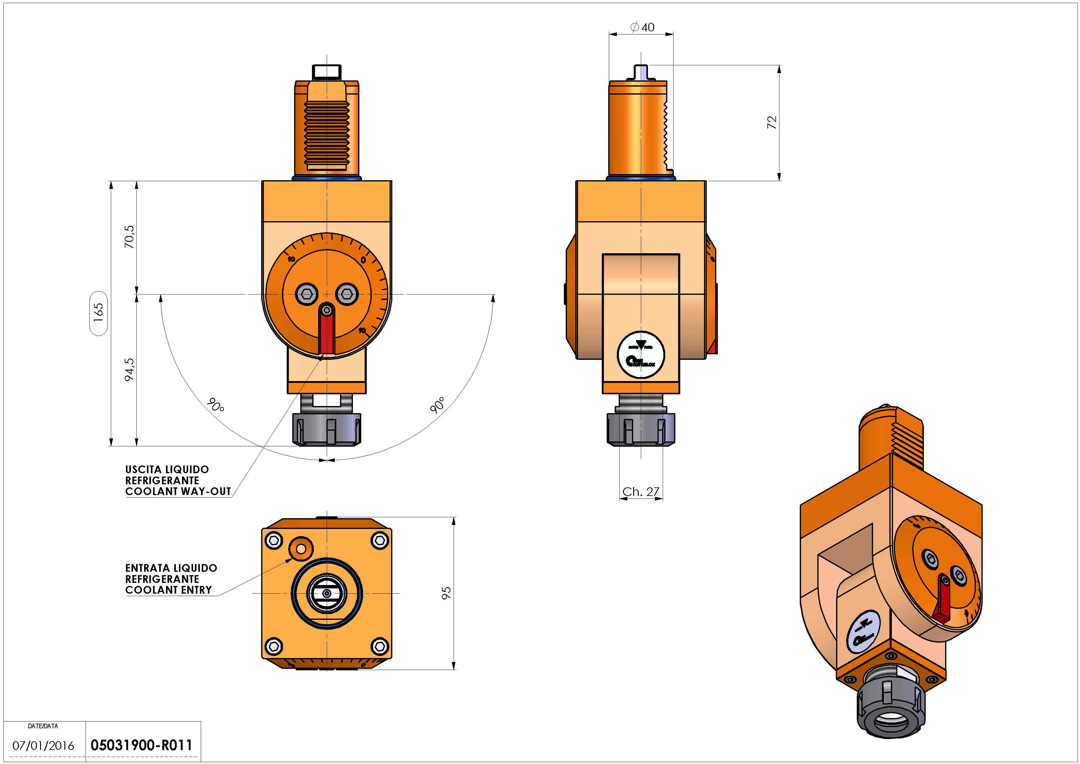Technical image - LT-T VDI40 ER25 H71-165 TW-TZ.