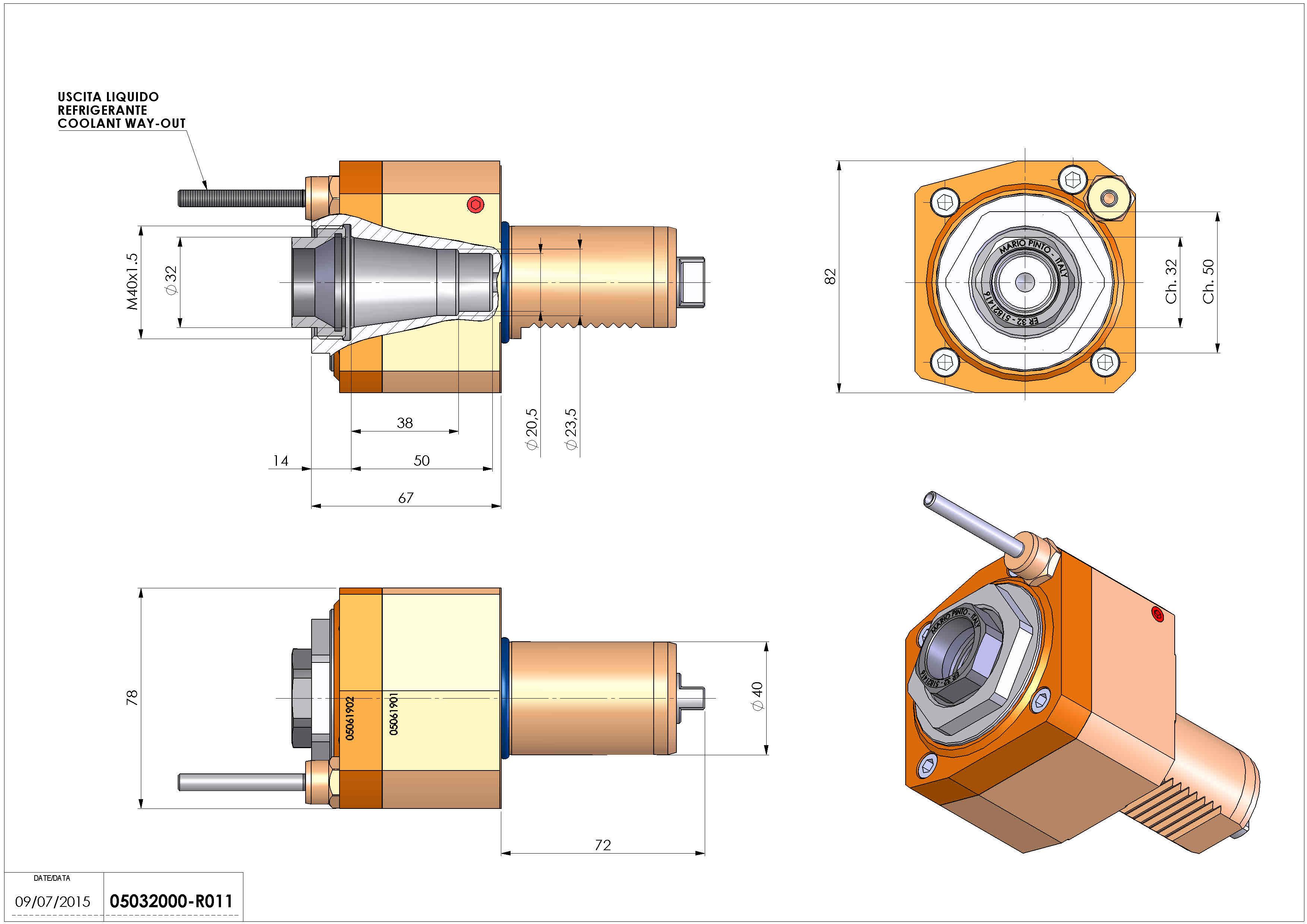 Technical image - LT-S VDI40 ER32F H67 TW-TZ.