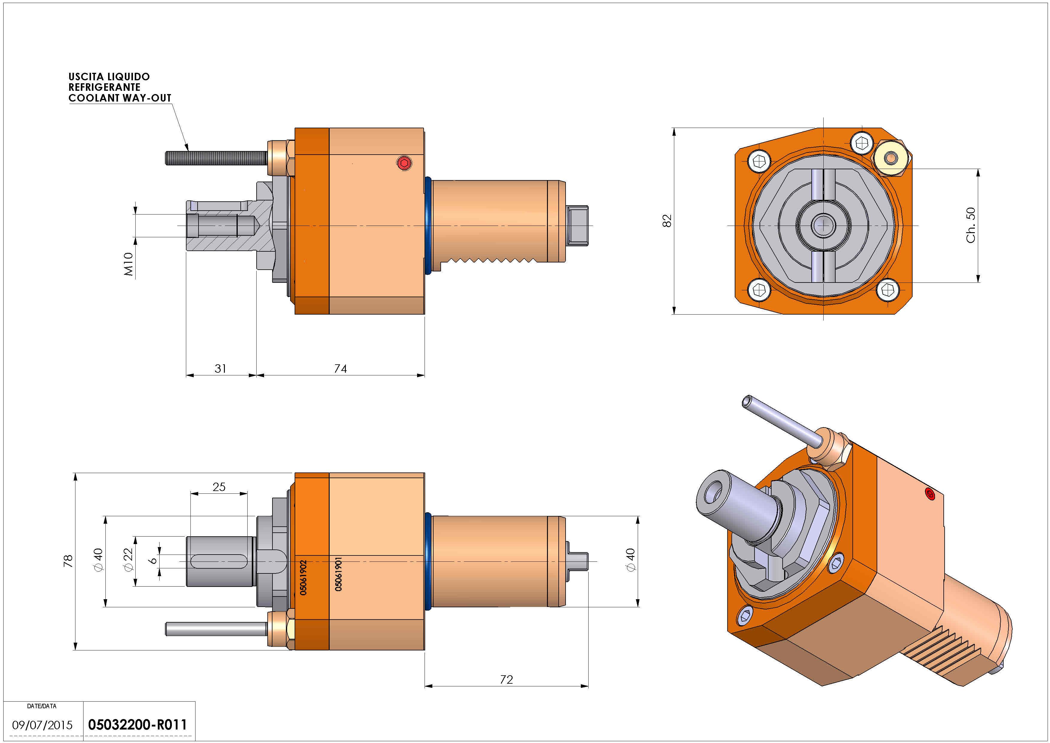 Technical image - LT-S VDI40 DIN138-22 H74 TW-TZ.