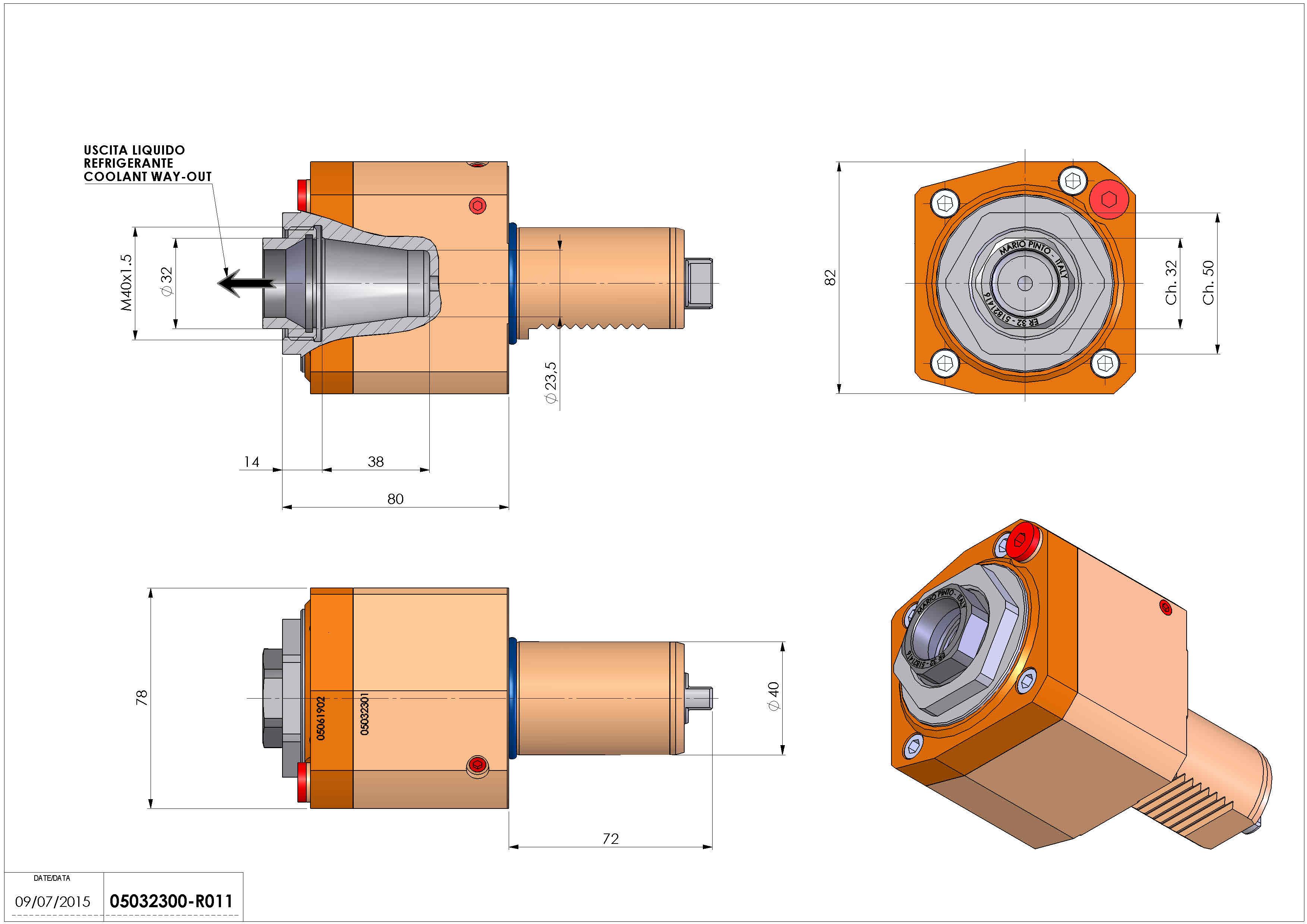 Technical image - LT-S VDI40 ER32F RF H80 TW-TZ.