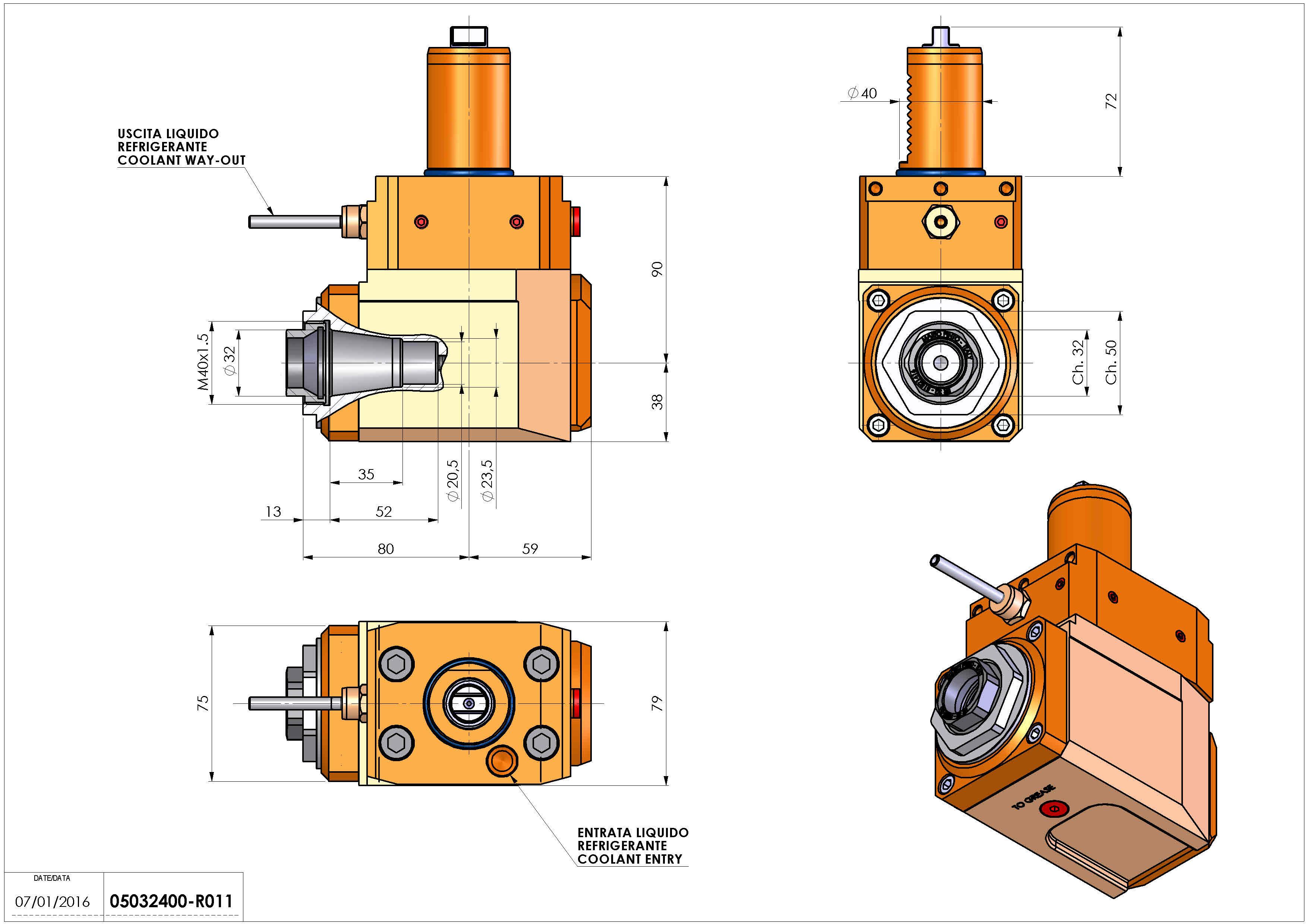 Technical image - LT-A VDI40 ER32F L H90 TW.