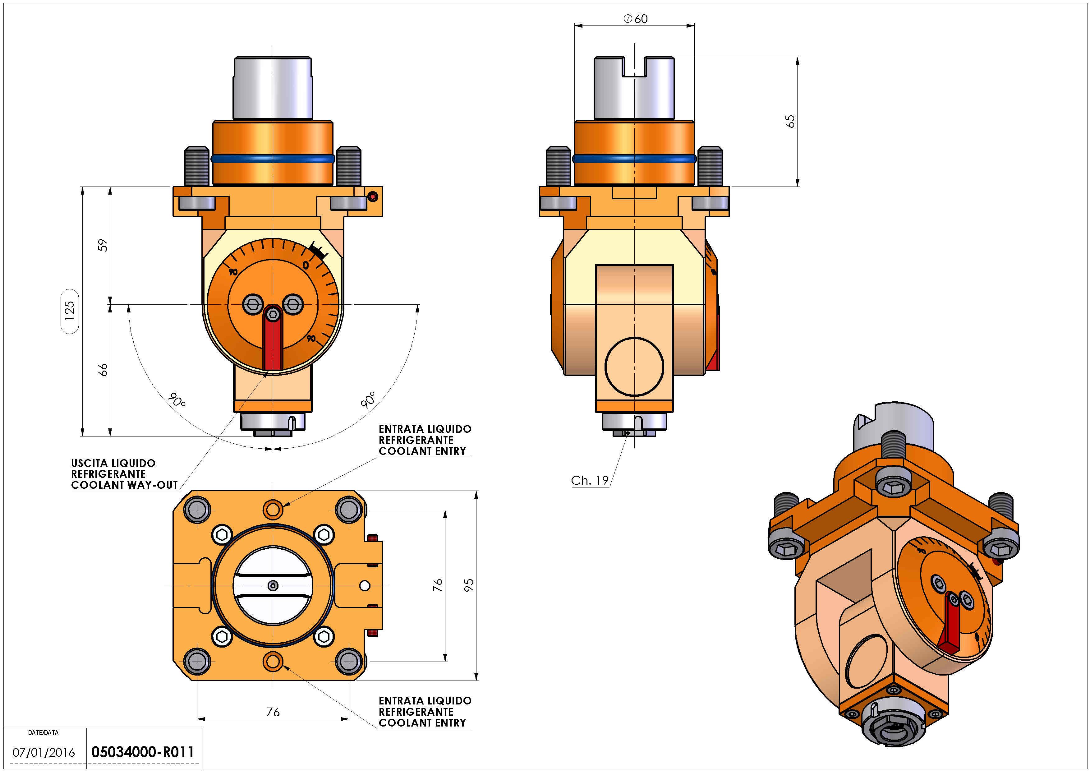 Technical image - LT-T D60 ER16F H59-128 TW.