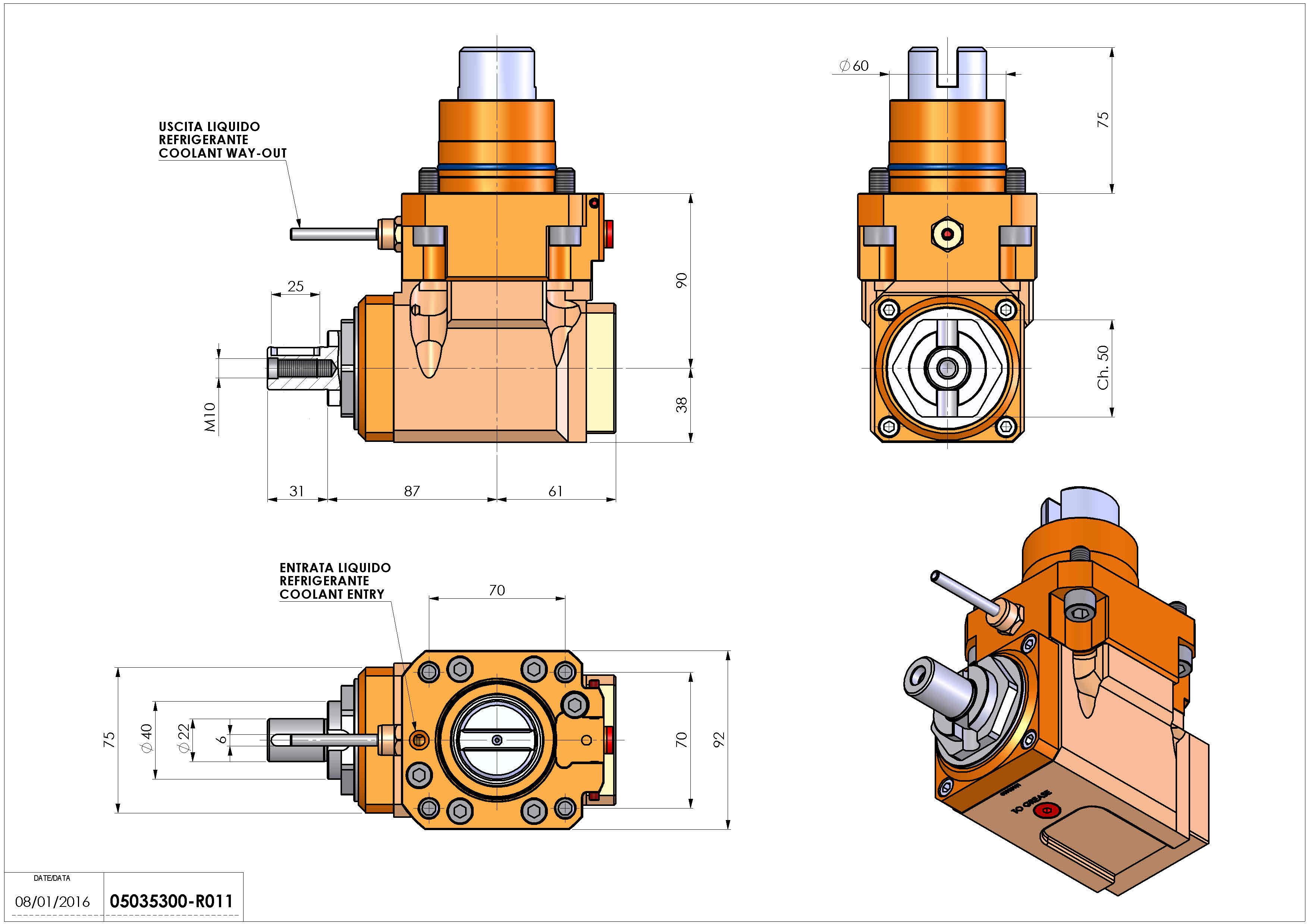 Technical image - LT-A D60 DIN138-22 R H90 TW.