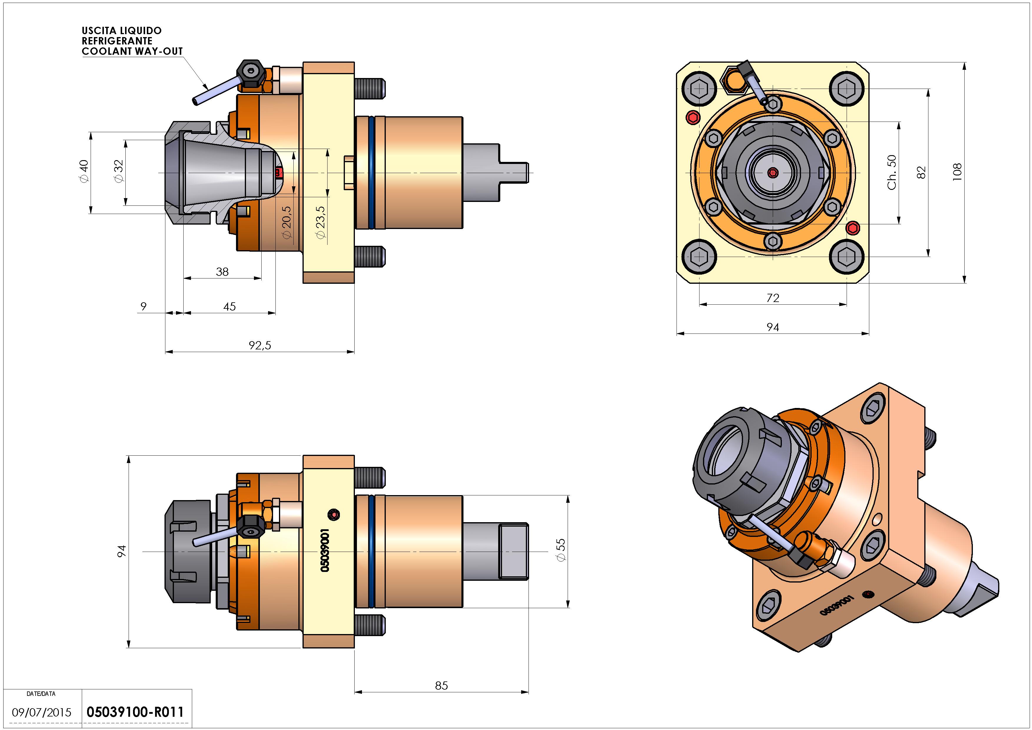 Technical image - LT-S D55 ER32 H93.