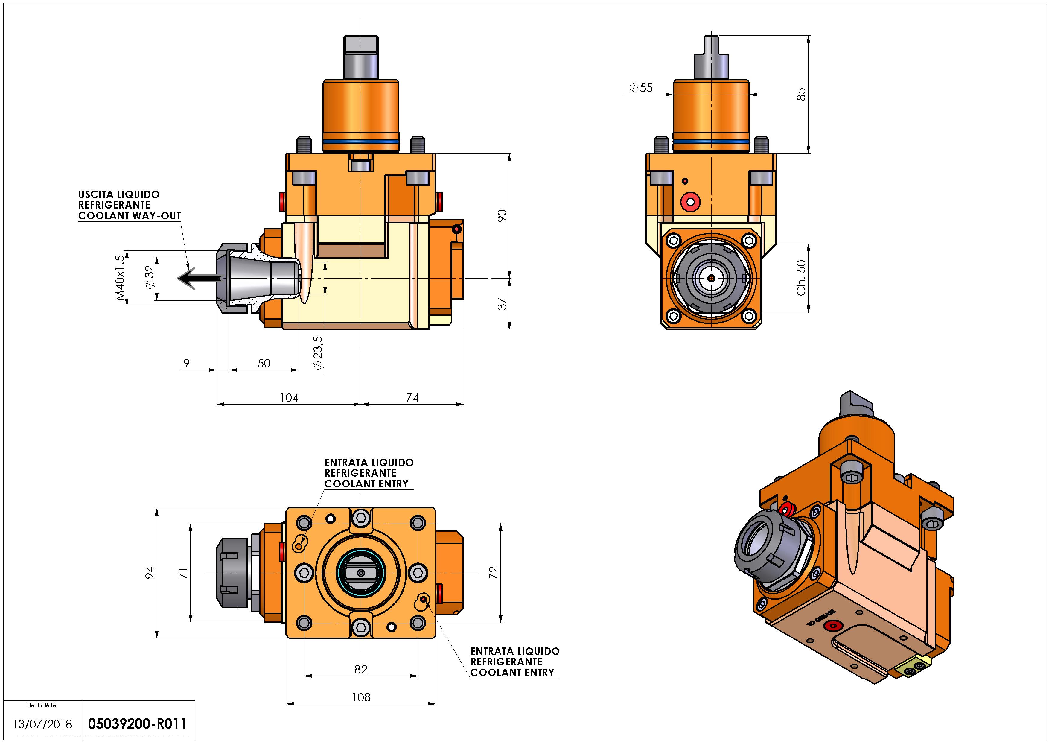 Technical image - LT-A D55 ER32 LR HRF H90.