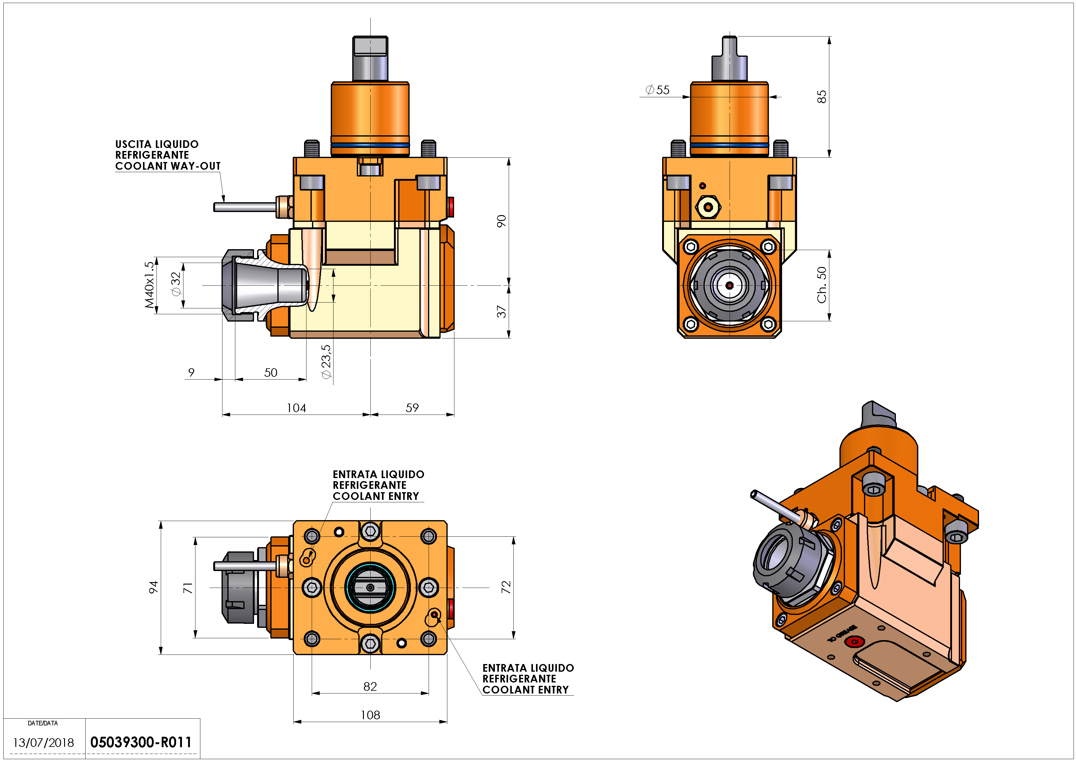 Technical image - LT-A D55 ER32 LR H90.