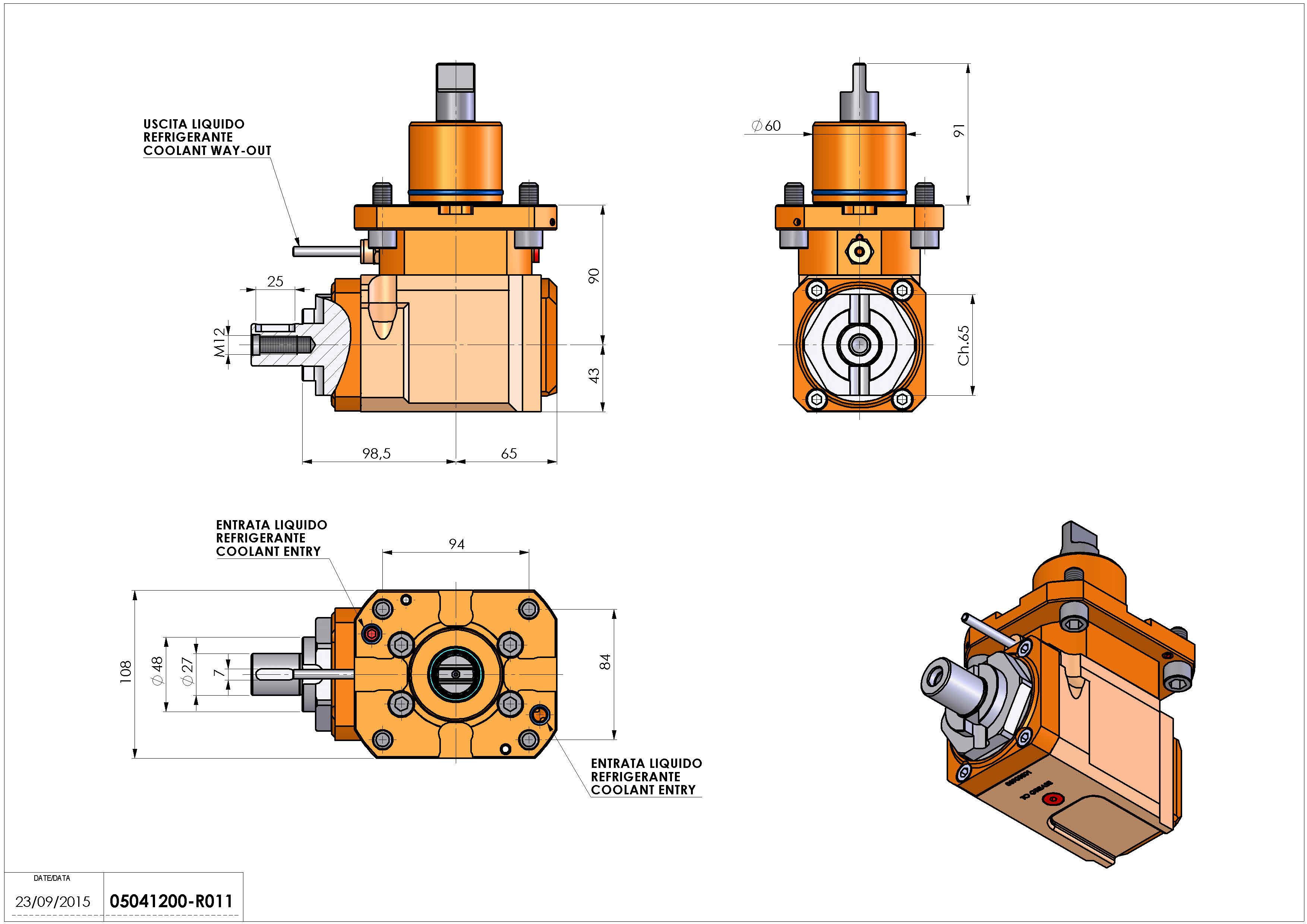 Technical image - LT-A D60 DIN138-27 L-R H90.