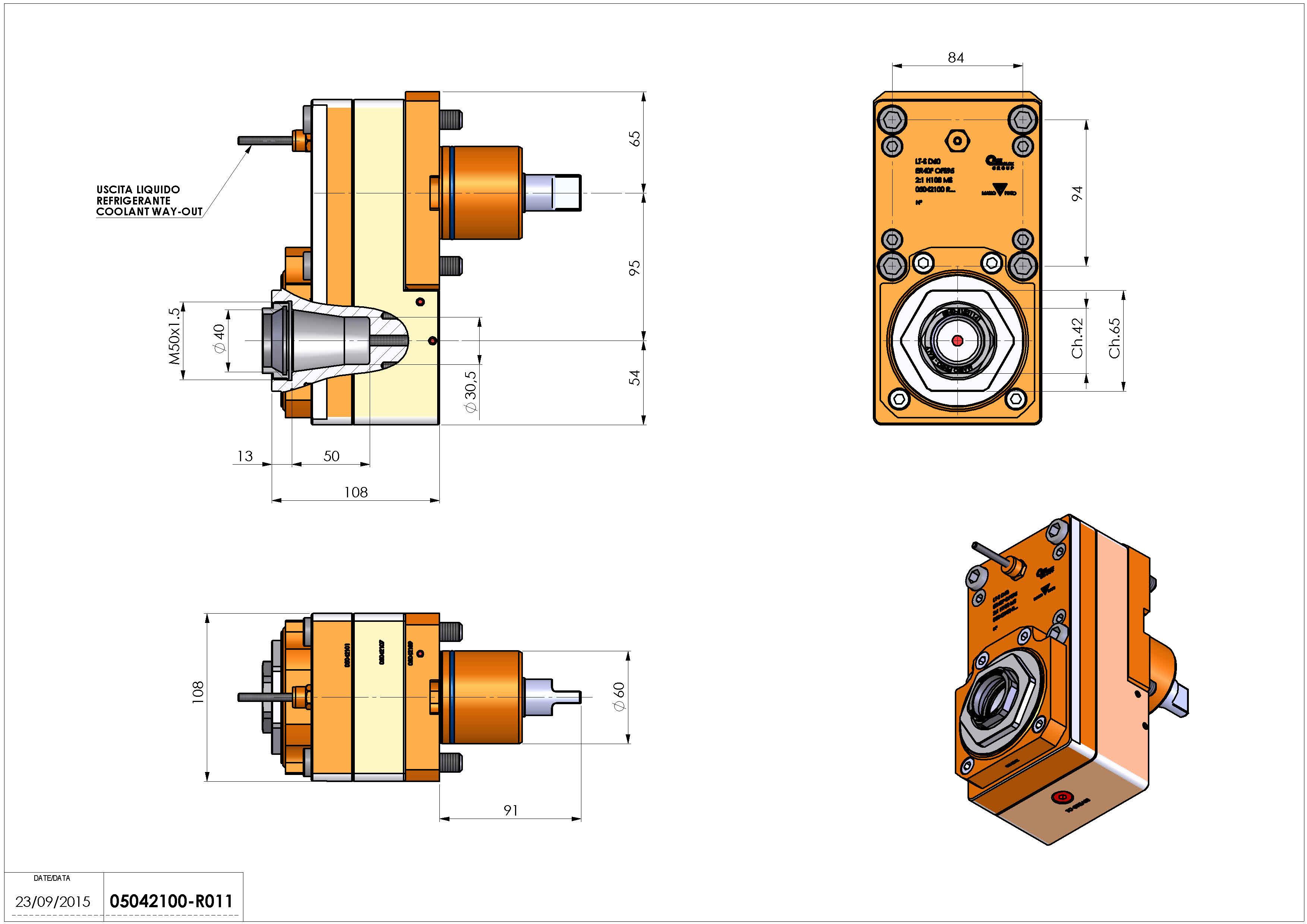 Technical image - LT-S D60 ER40FOF95 2:1 HS H108.