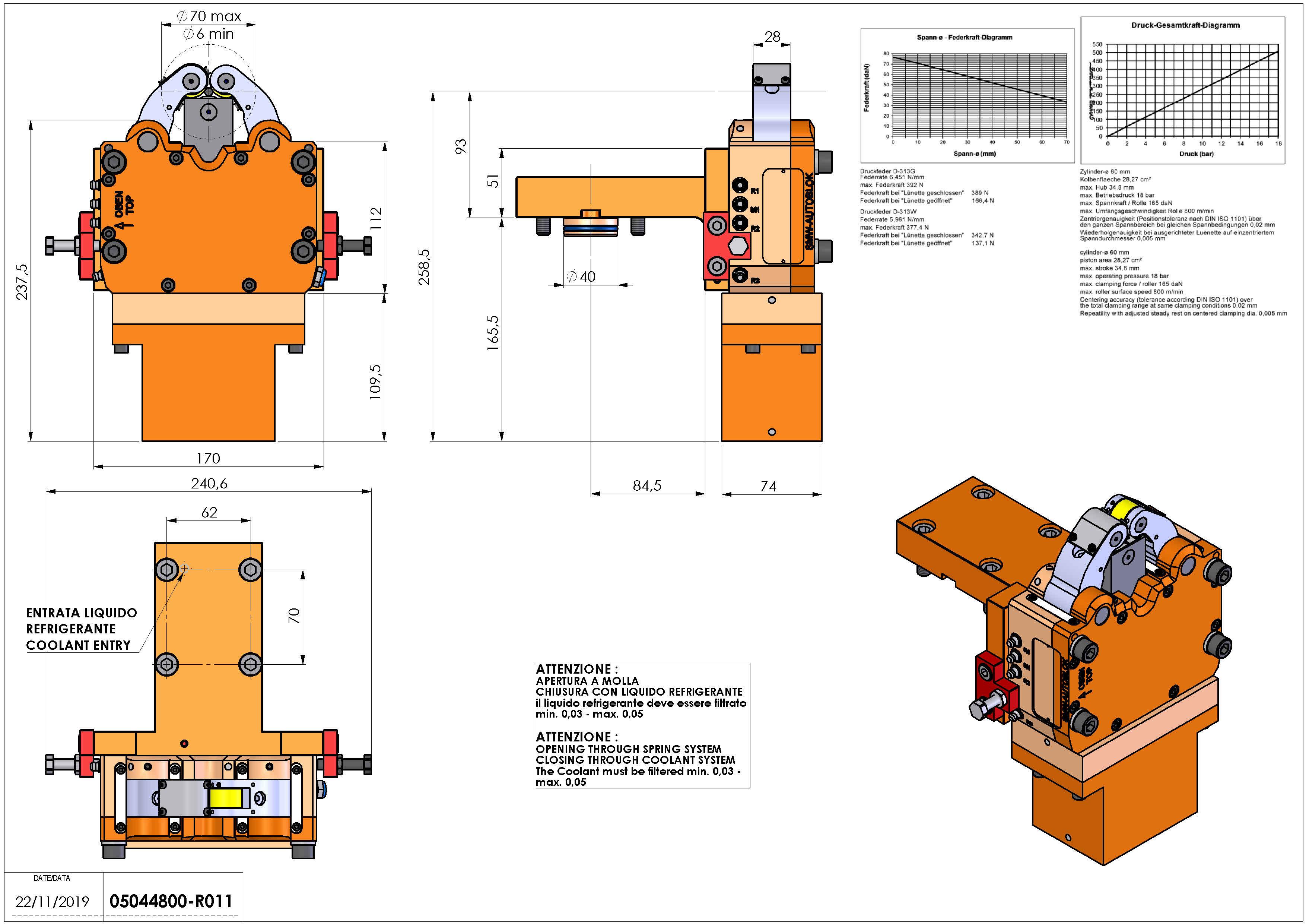 Technical image - LUNETTA D40 D6-70 SLU-X-1M H93.