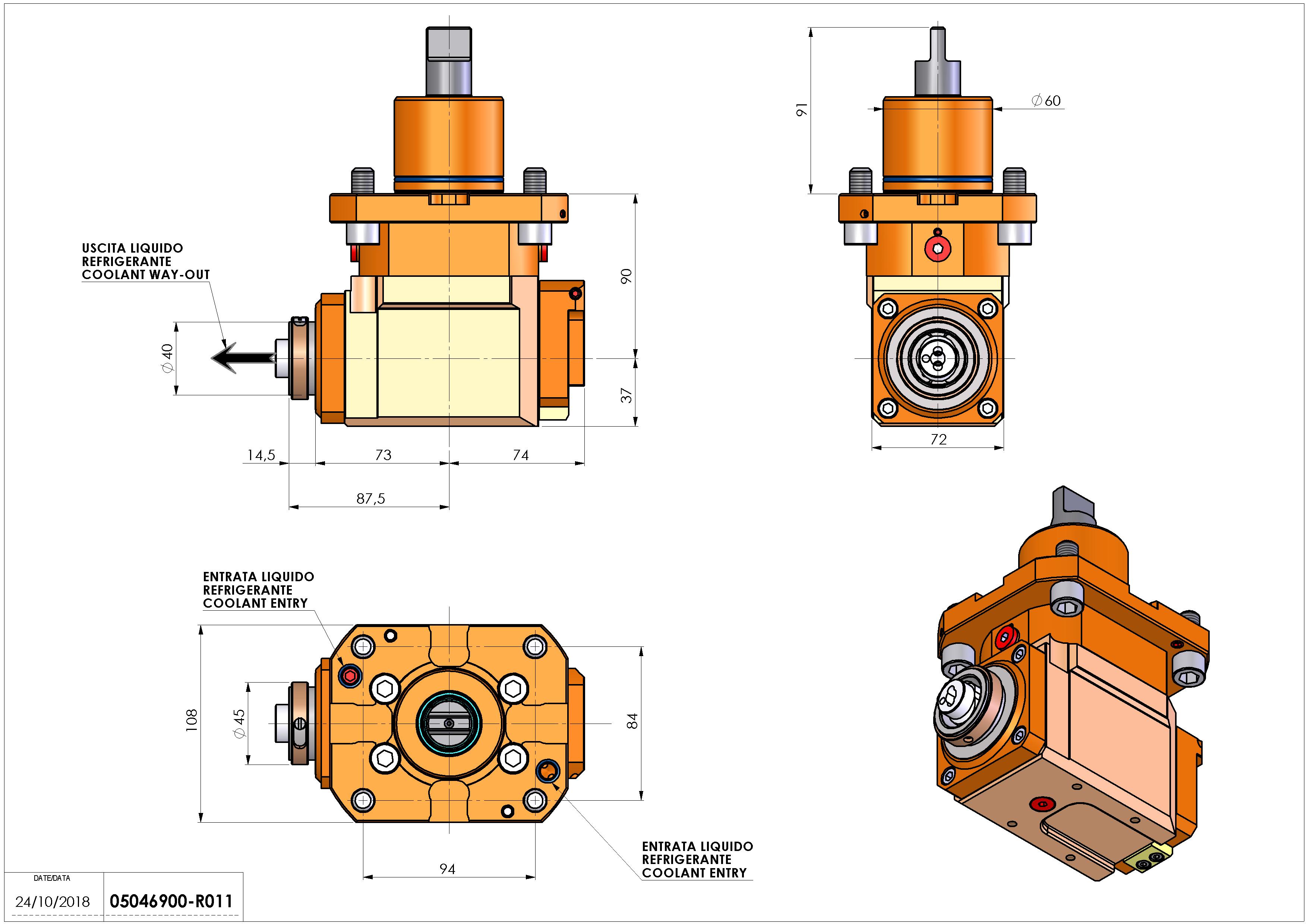 Technical image - LT-A D60 HSK-40 LR HRF HS H90.