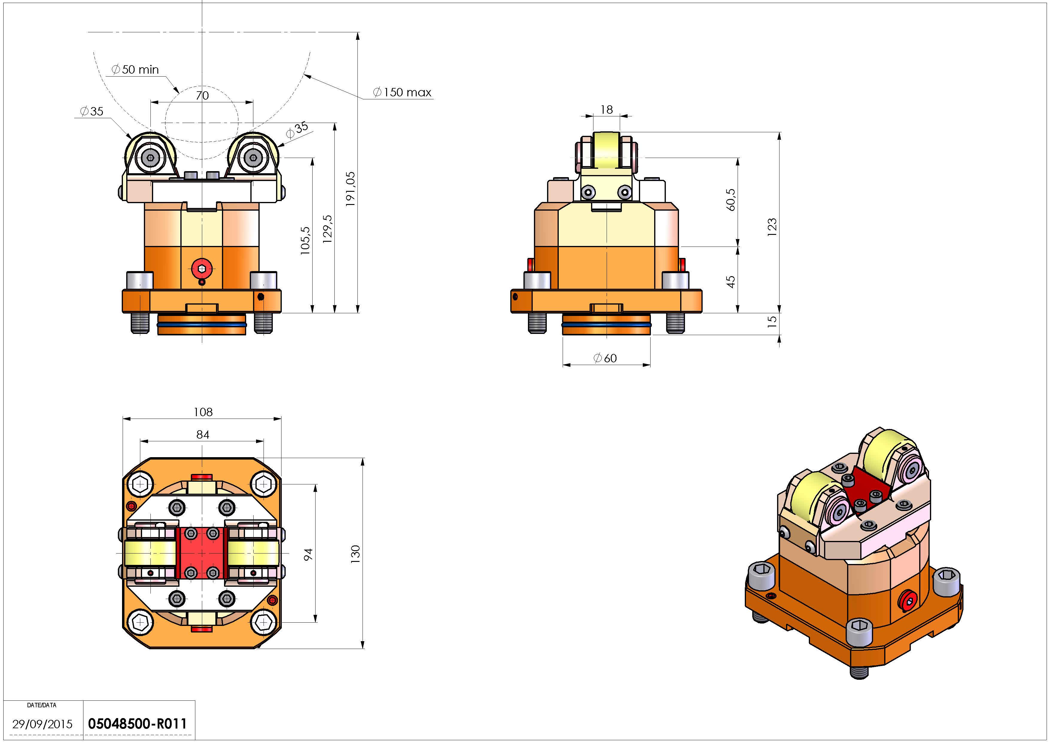 Technical image - SUPP ALB AX D50-150 D60 MS.