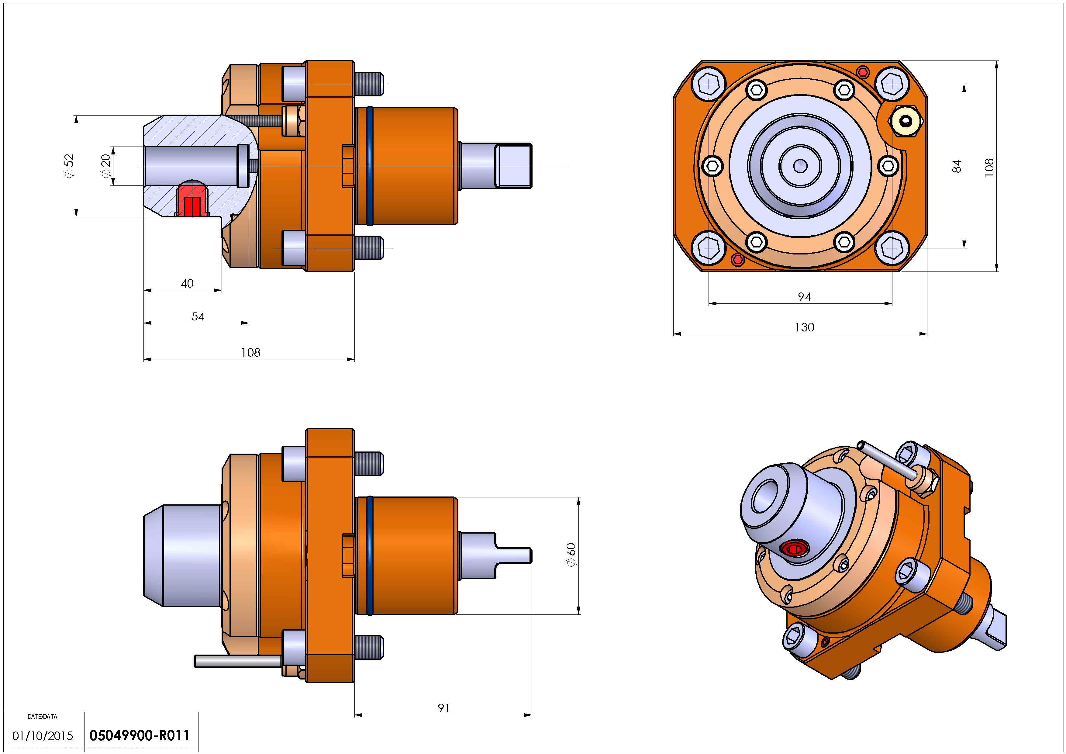 Technical image - LT-S D60 WELDON 20 HS H108.