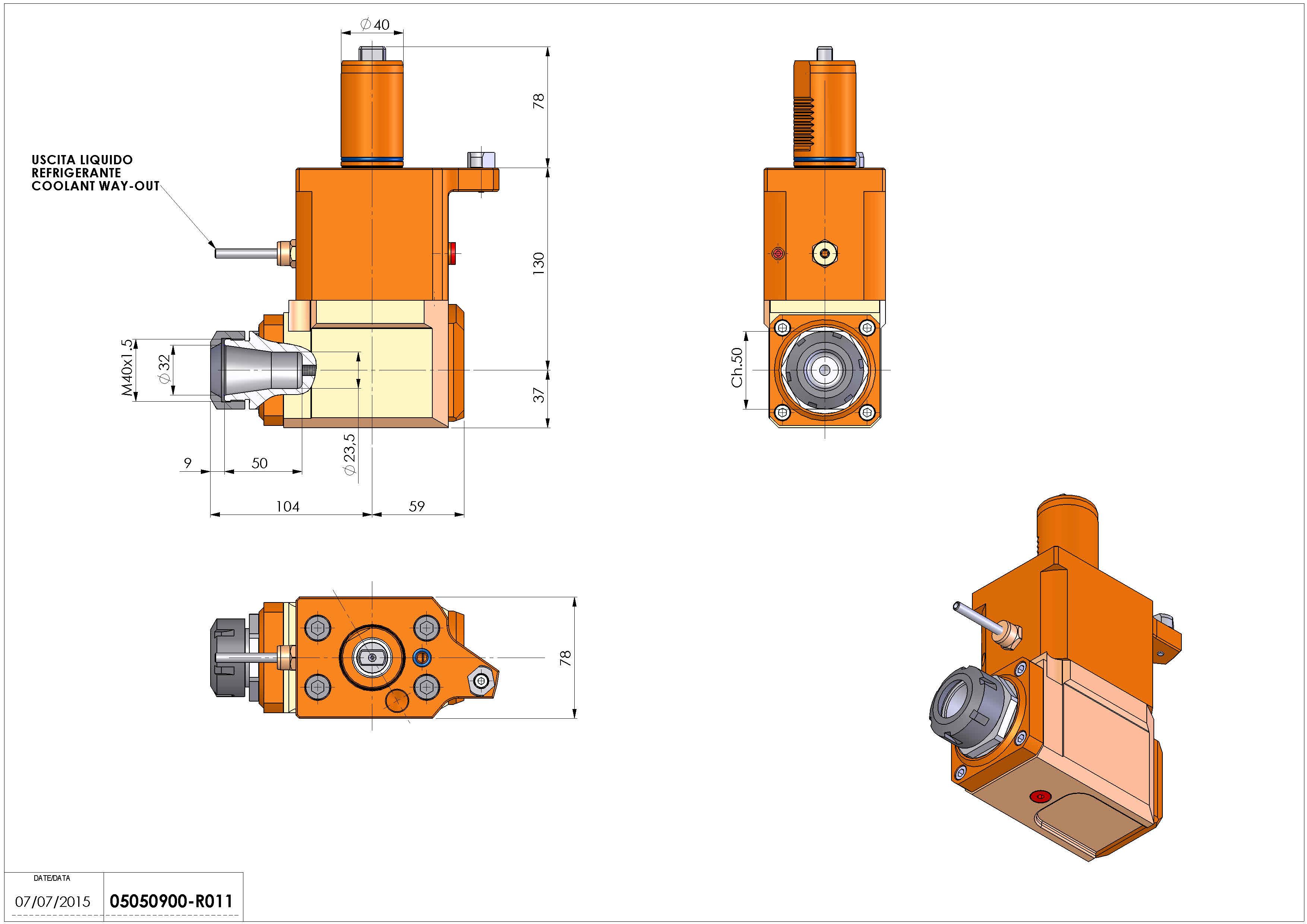 Technical image - LT-A VDI40 ER32 L H130 MZ.