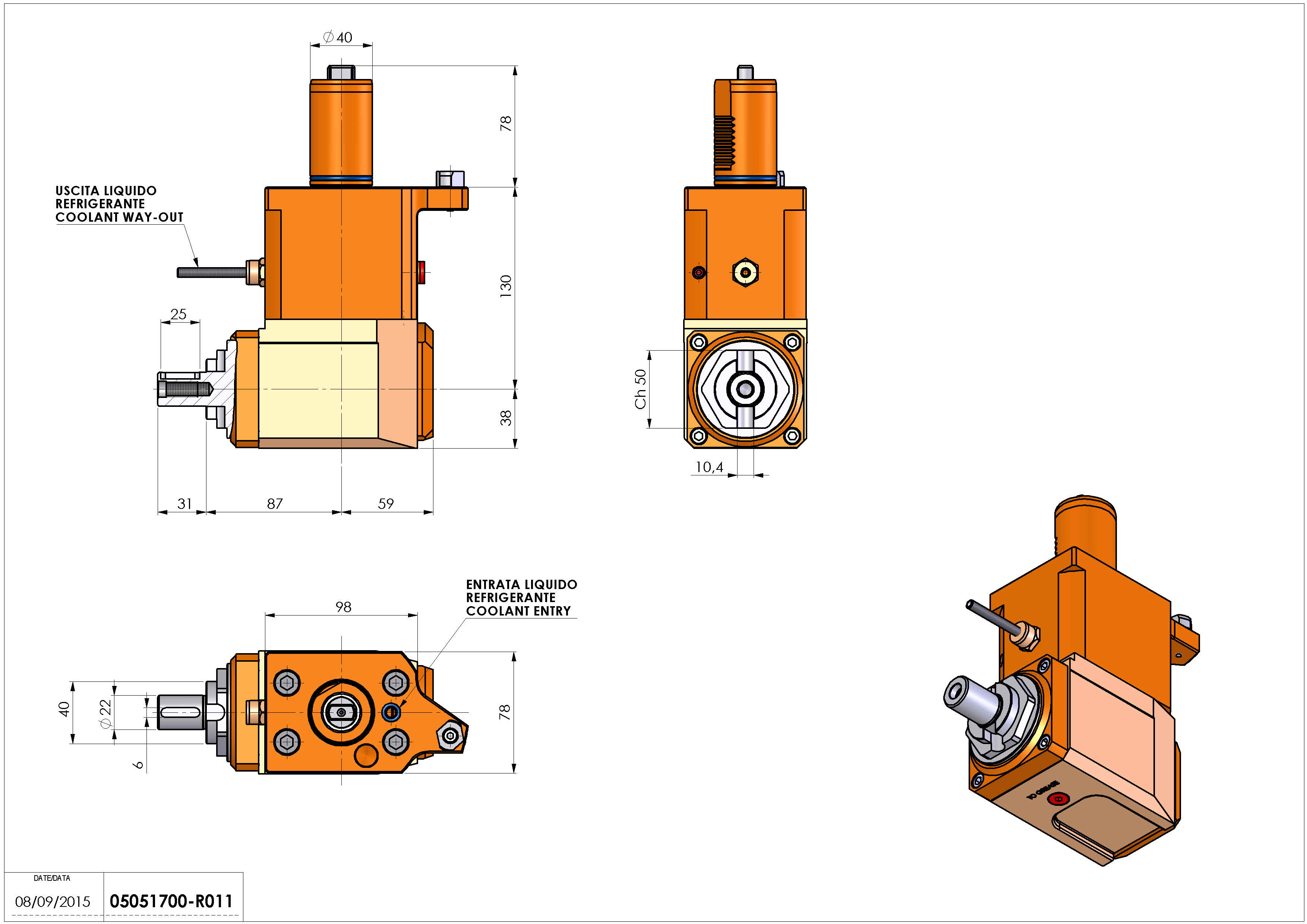 Technical image - LT-A VDI40 DIN138-22 L H130 MZ.