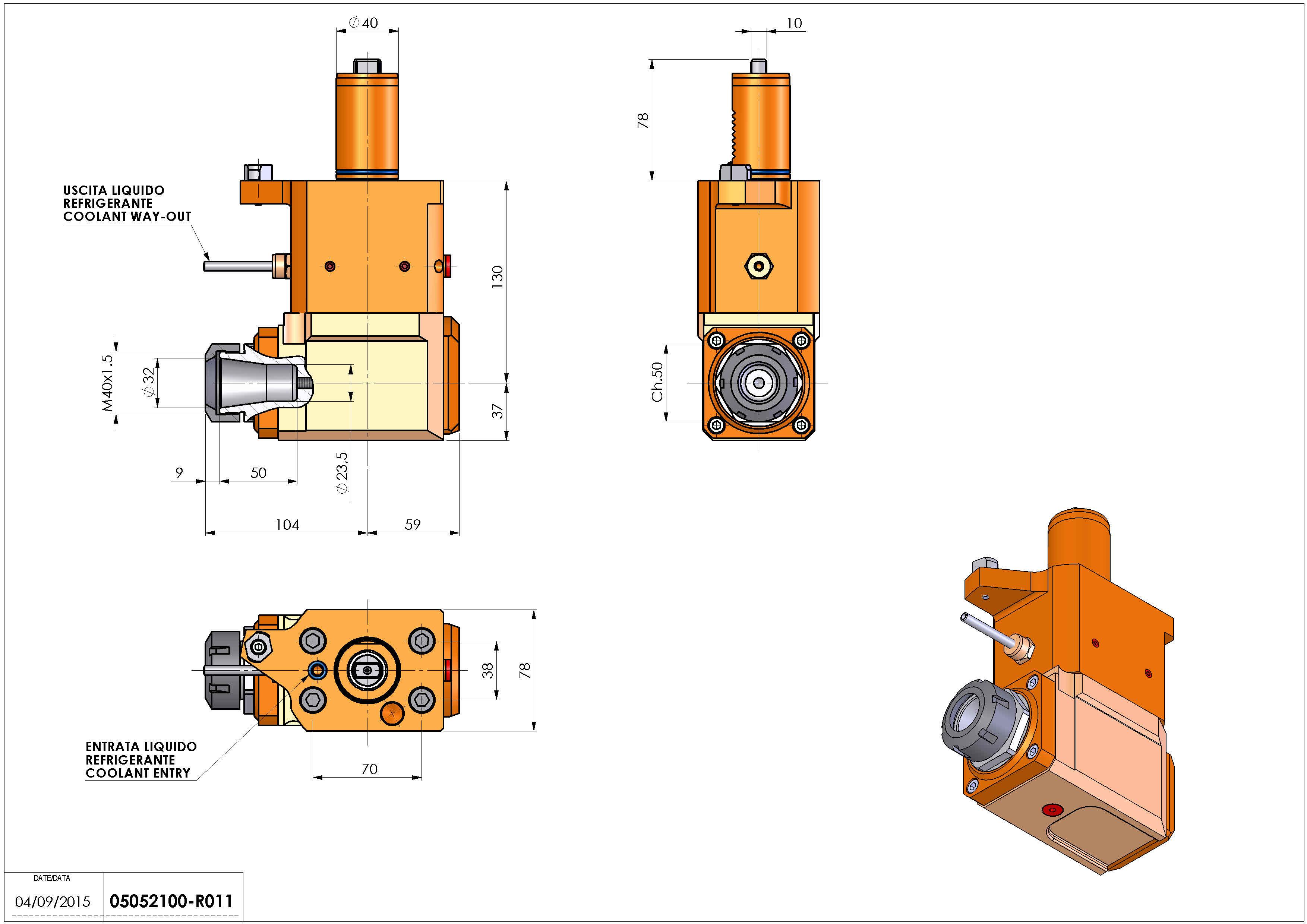 Technical image - LT-A VDI40 ER32 LR H130 MLP MZ.