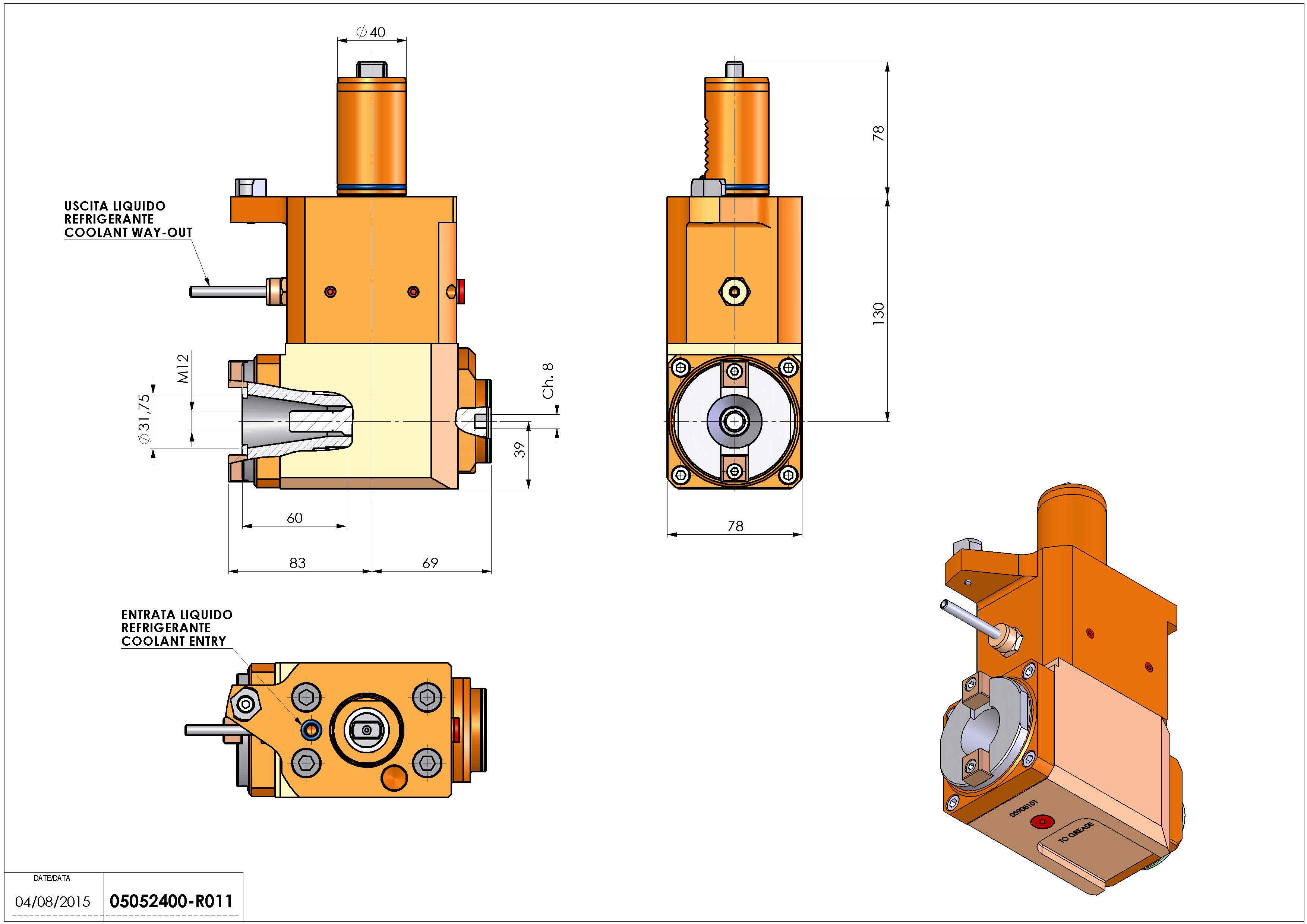Technical image - LT-A VDI40 ISO-BT30 H130 MZ.