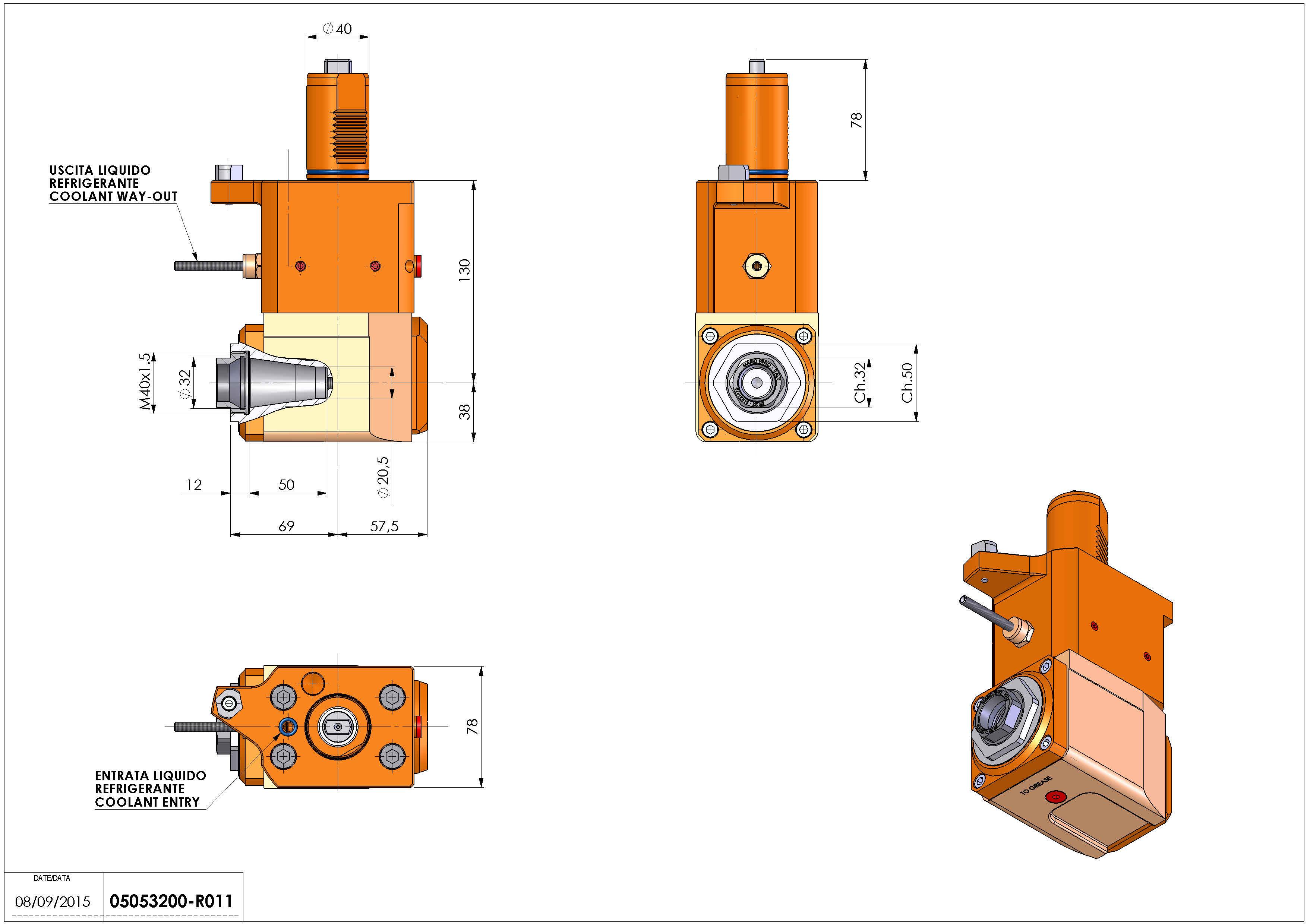 Technical image - LT-A VDI40 ER32F R H130 MZ.