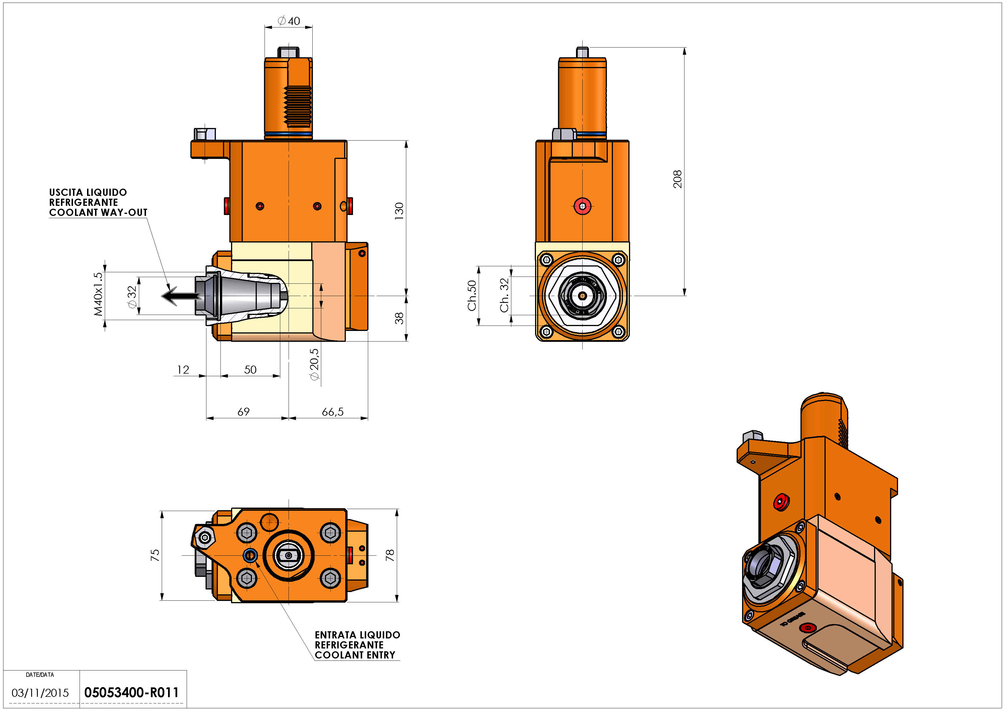 Technical image - LT-A VDI40 ER32F R RF H130 MZ.