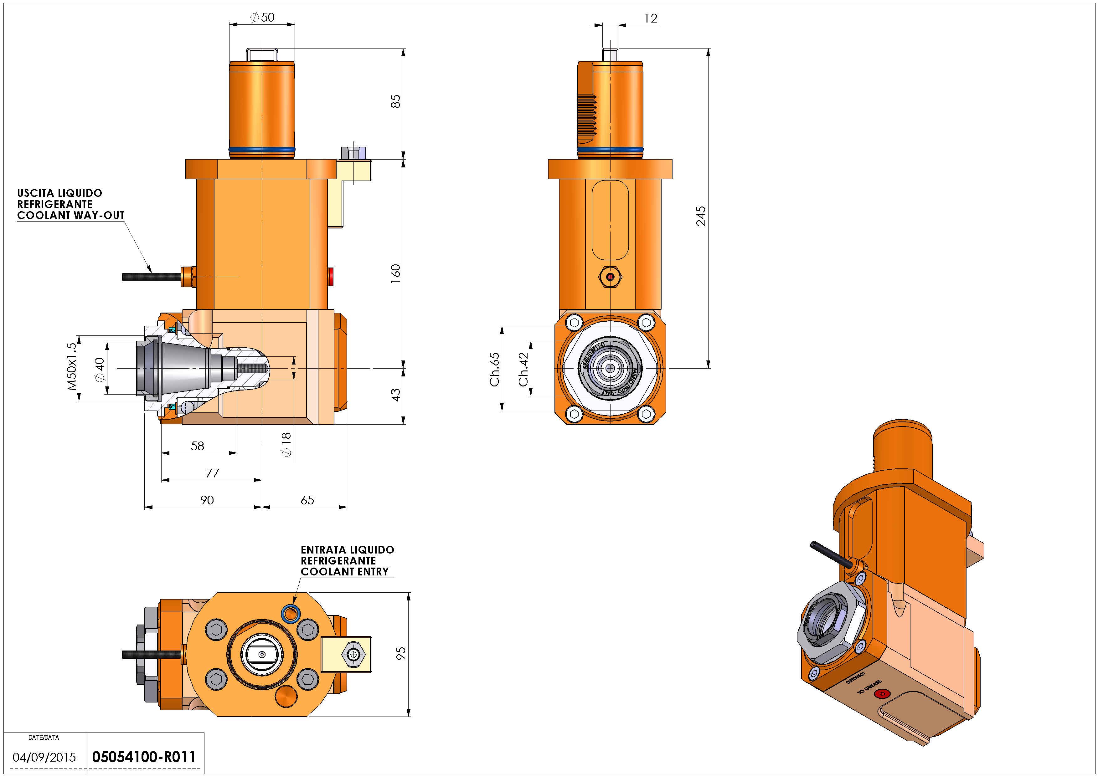Technical image - LT-A VDI50 ER40F L H160 MZ.