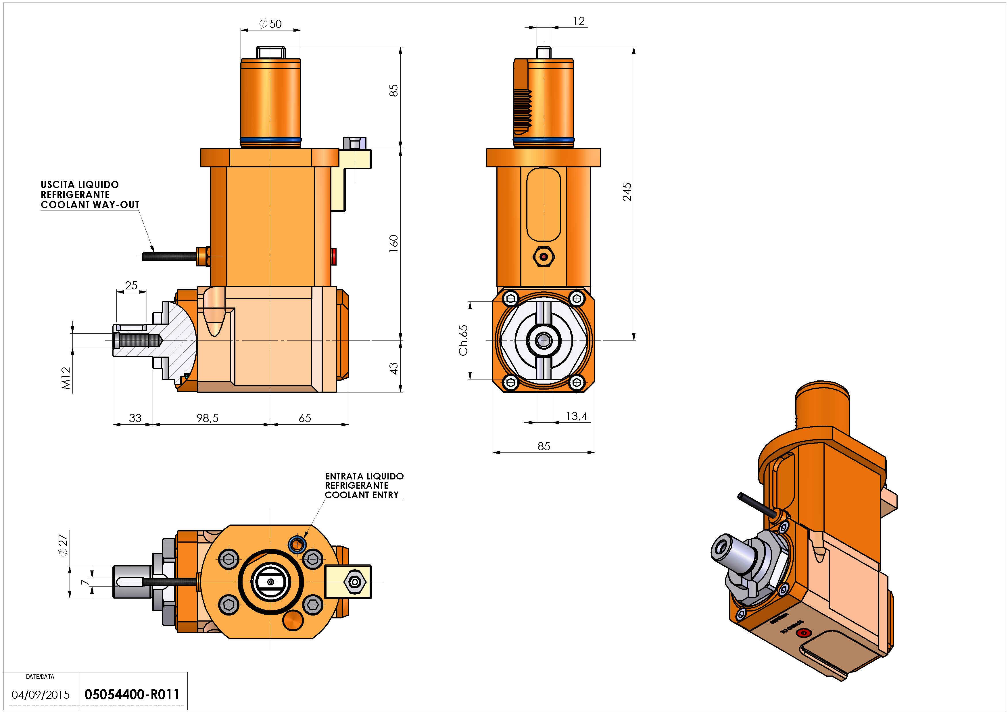 Technical image - LT-A VDI50 DIN138-27 L H160 MZ.