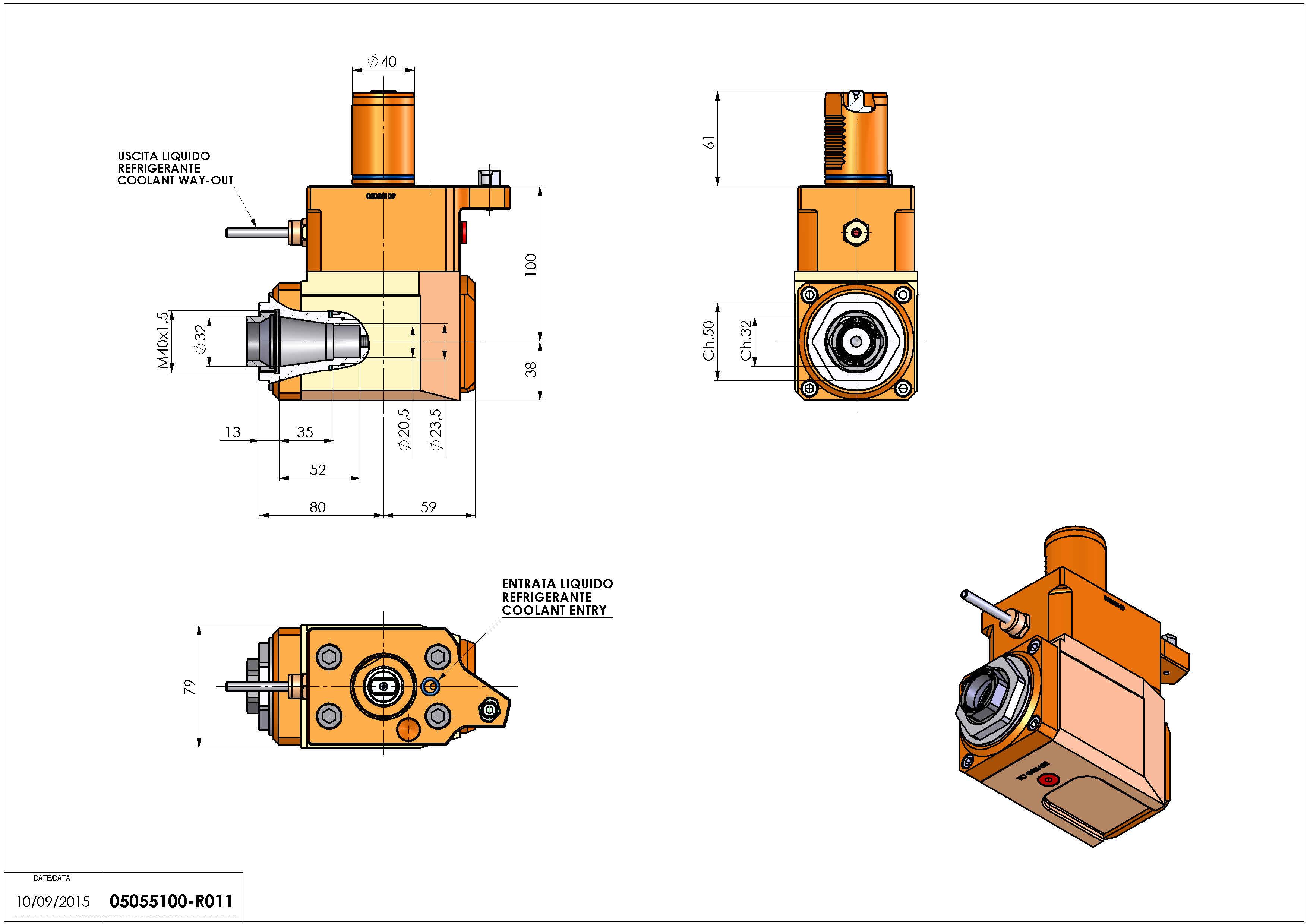 Technical image - LT-A VDI40 ER32F G60 L H100 MZ.