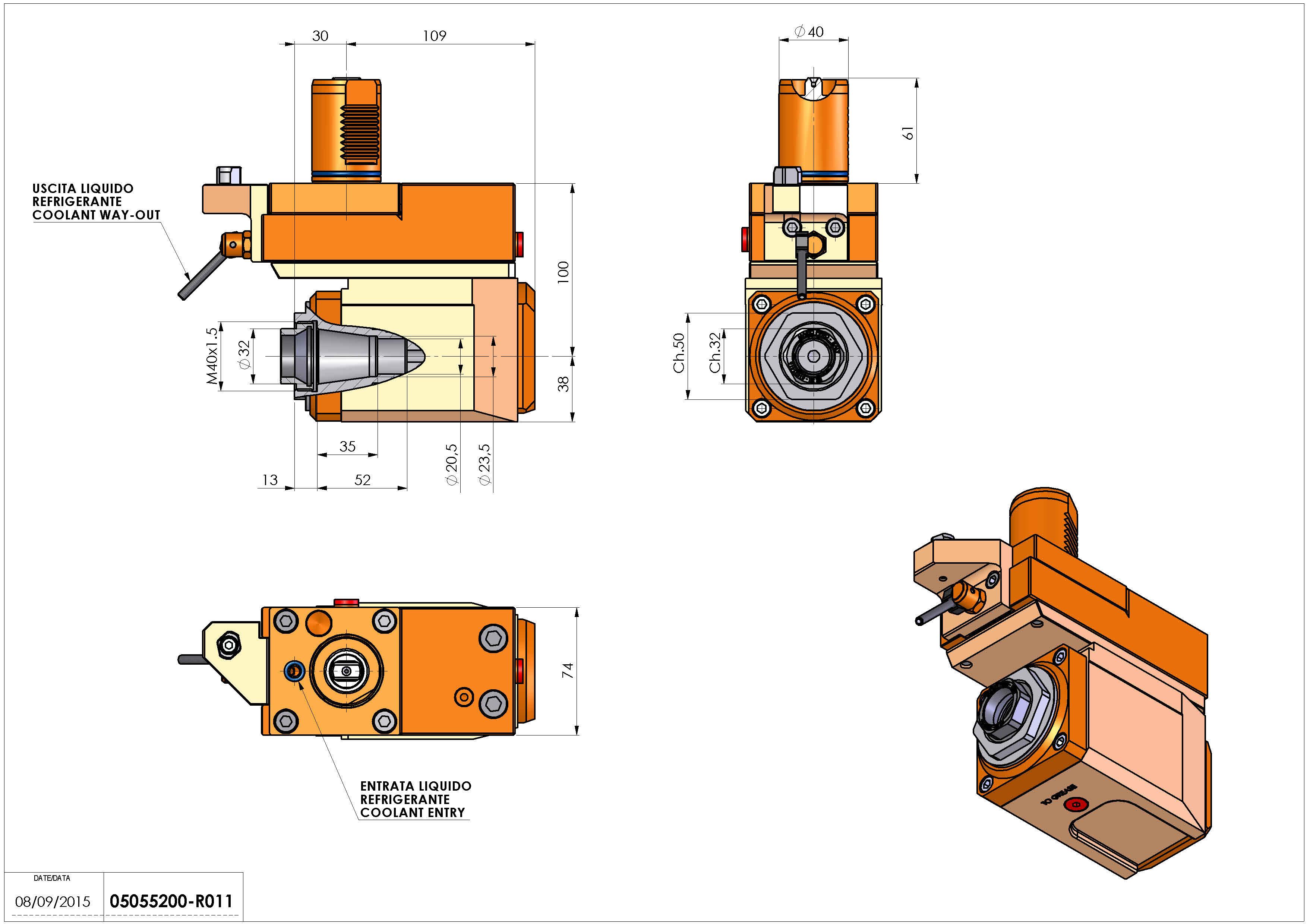 Technical image - LT-A VDI40 ER32F R OFS H100 MZ.